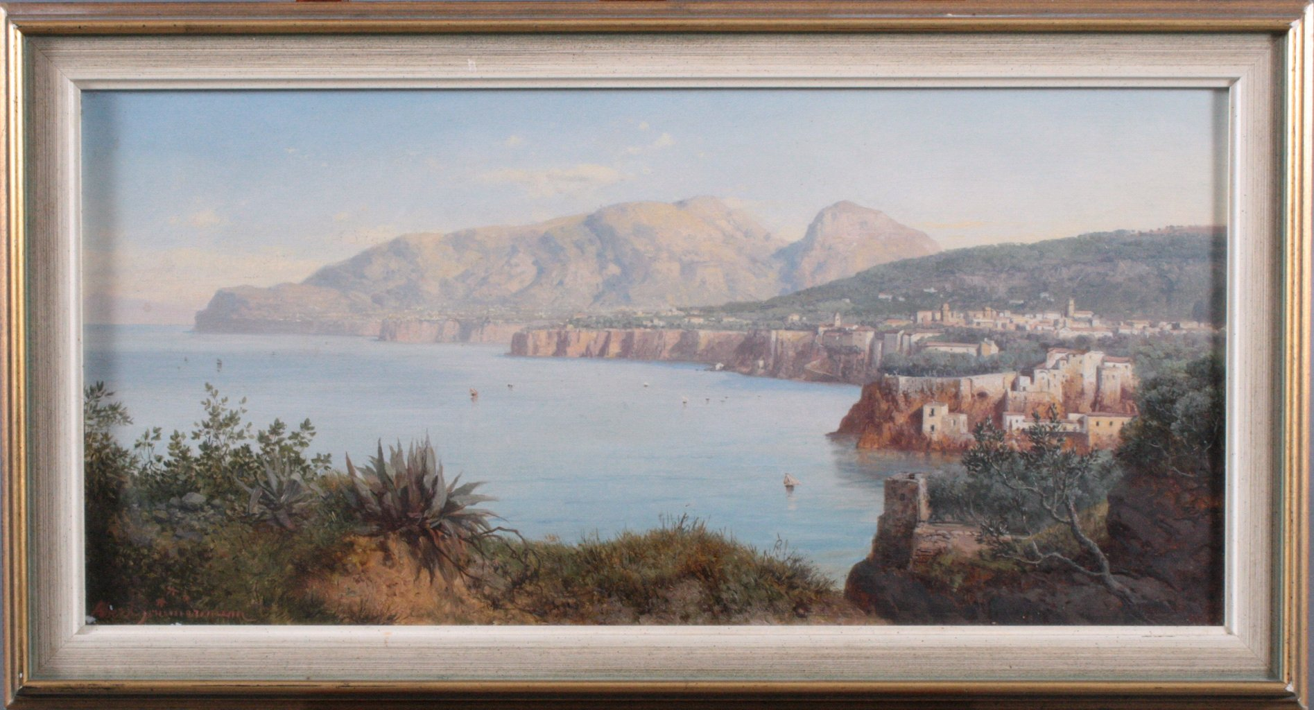 Panoramaansicht, Stadt am Meer