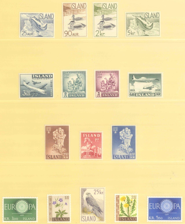 ISLAND 1959-1995, Katalogwert 750,- Euro.