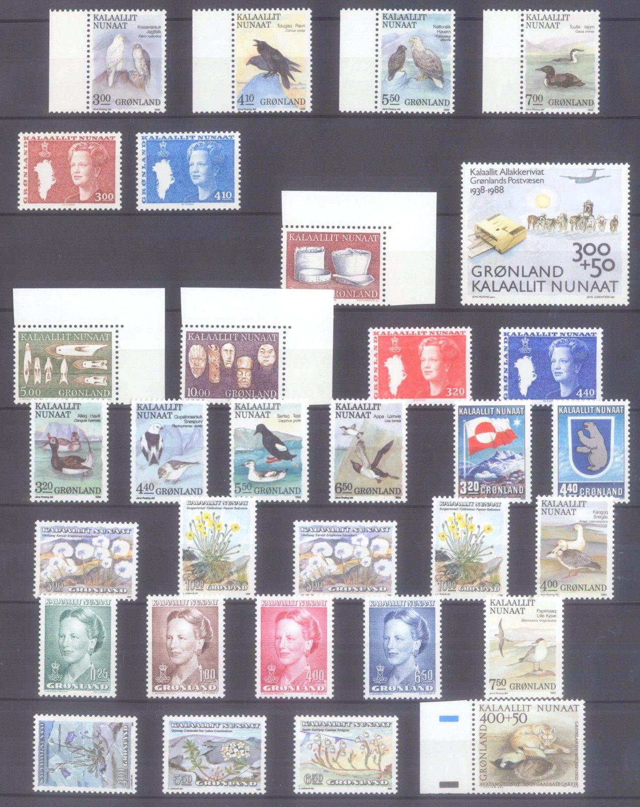 GRÖNLAND 1988-1995, Katalogwert fast 400,- Euro.