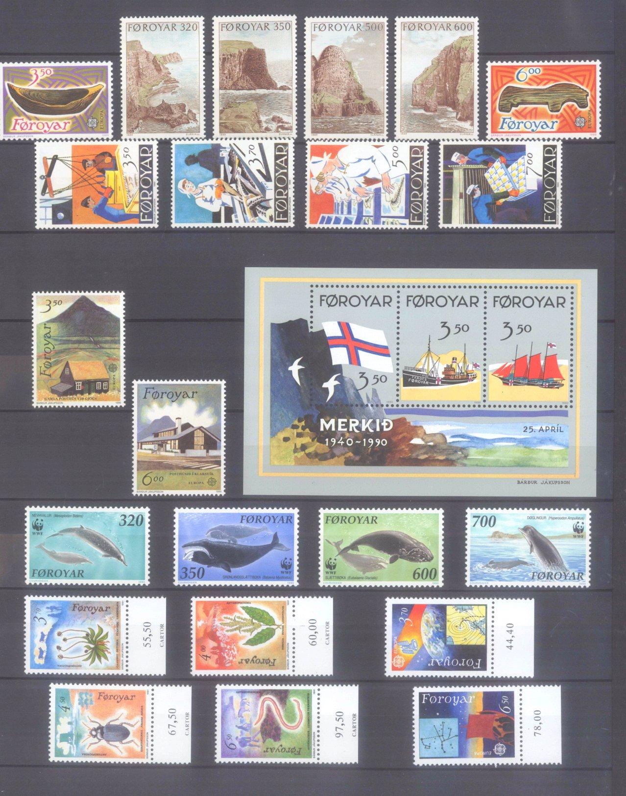 FÄRÖER 1975-1995, Katalogwert 600,- Euro.-1