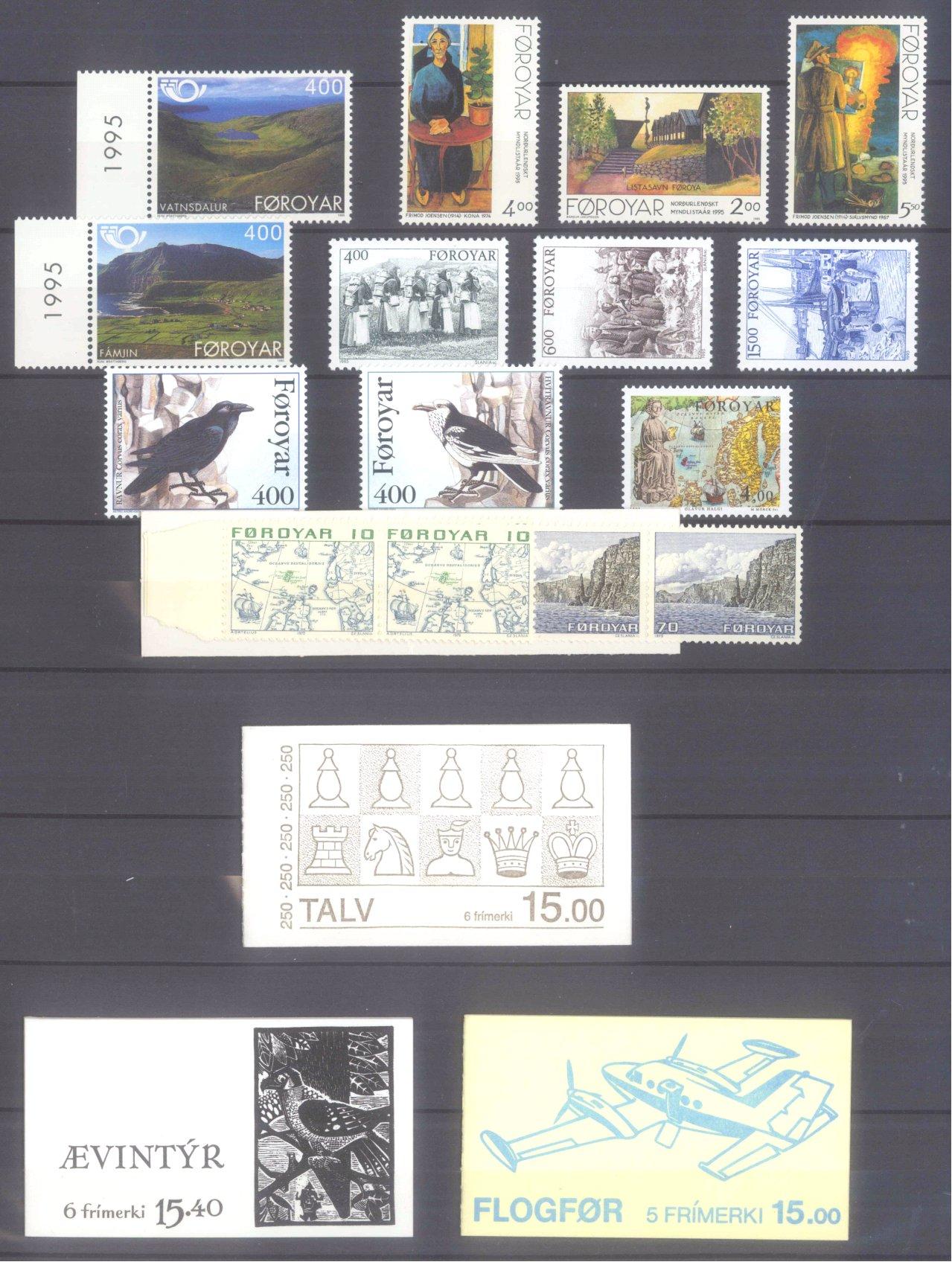 FÄRÖER 1975-1995, Katalogwert 600,- Euro.-2