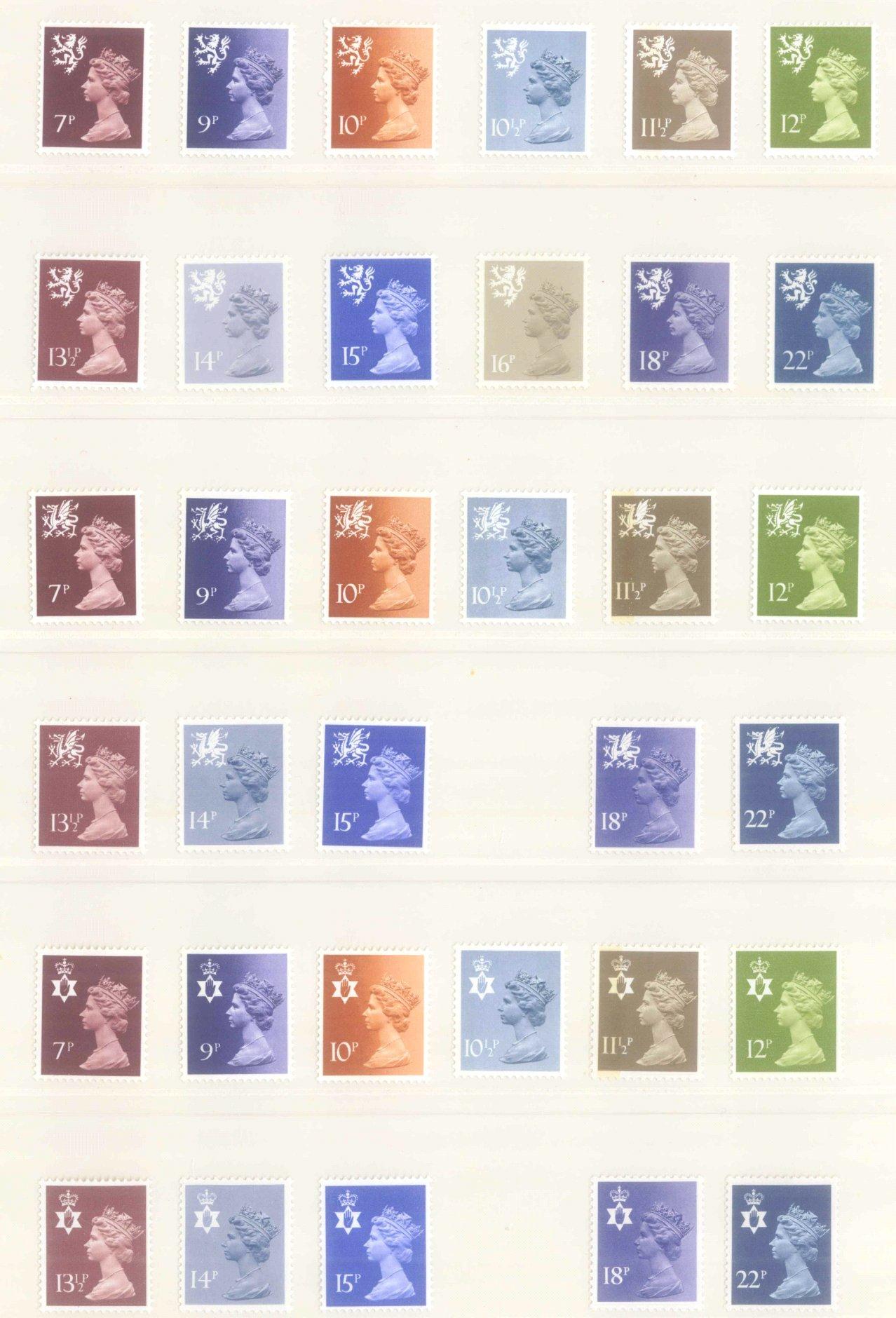 GROSSBRITANNIEN 1967-1985, NOMINALE: 82,- BRITISCHE PFUND-10