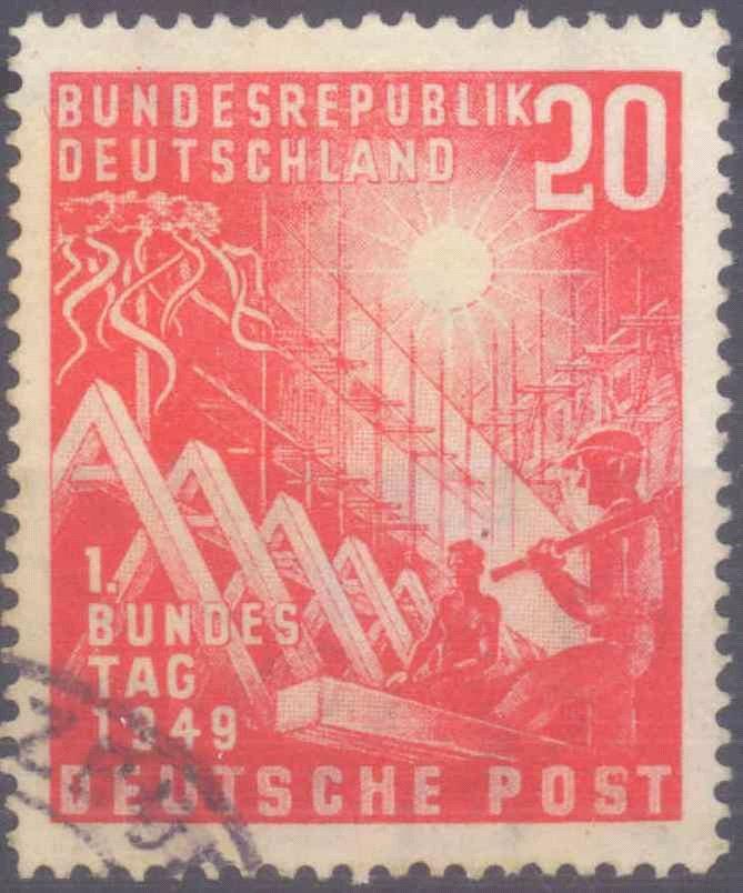 1949 BUND, 20 Pfennig Bundestag, Schantl 11B