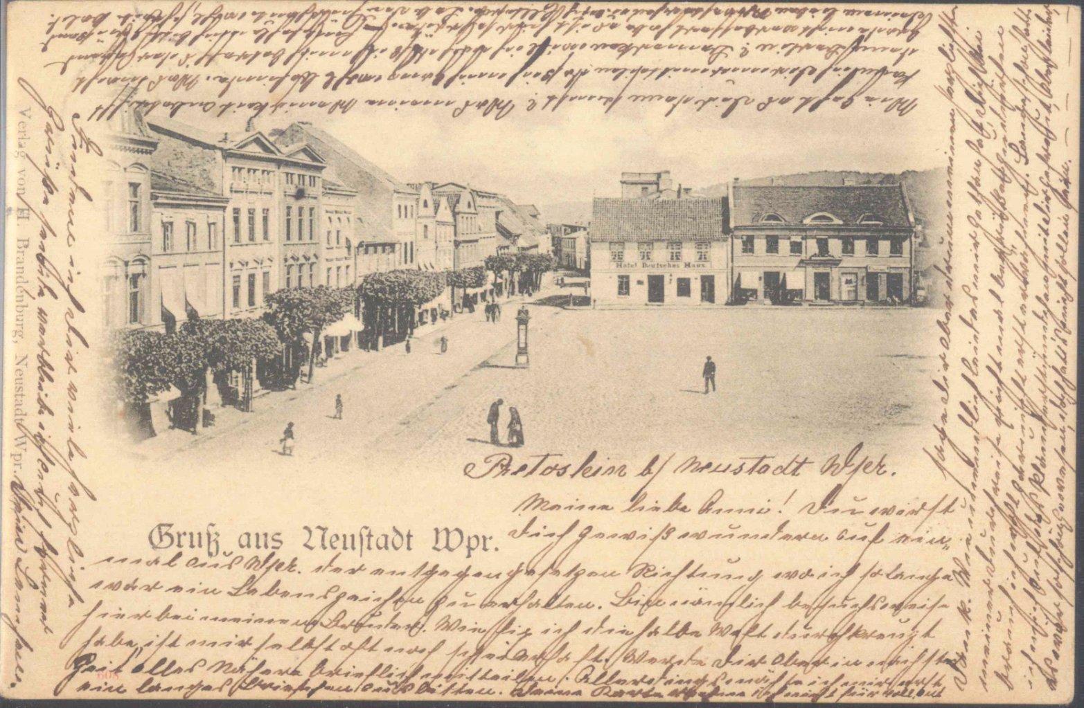 GRUSS AUS…NEUSTADT WESTPREUSSEN 1898
