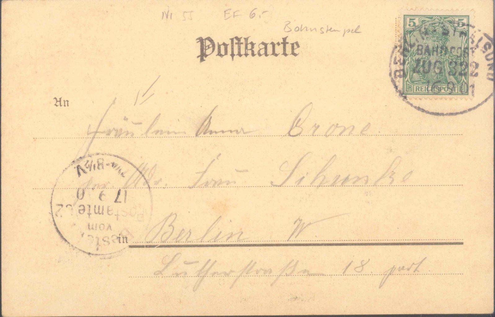1901 GRUSS VOM…, Bahnpost BERLIN-STRALSUND-1