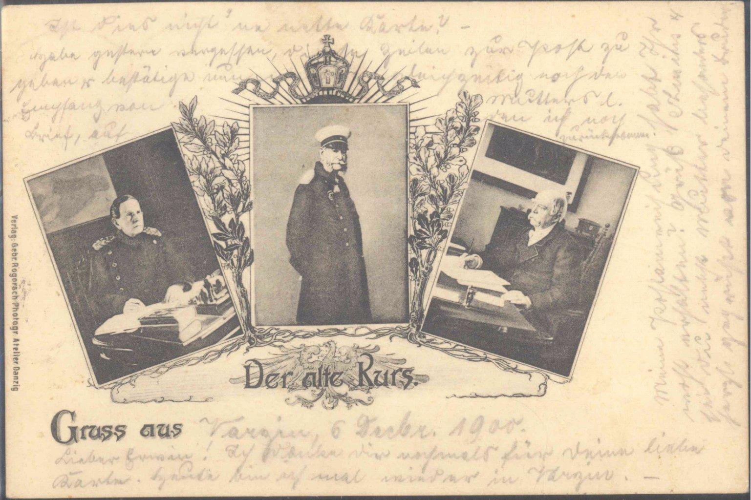 GRUSS AUS…VARZIN 1900, HINTERPOMMERN