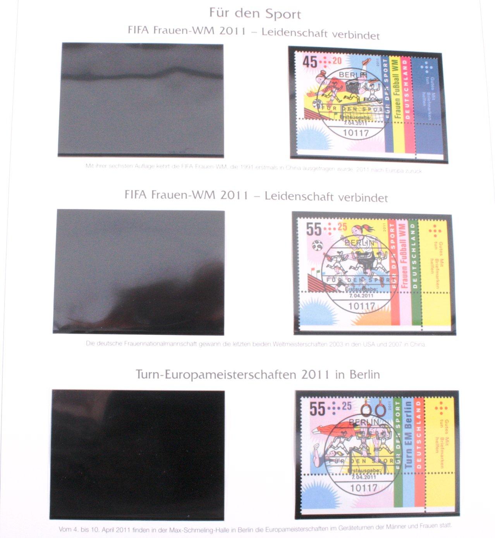 BUND 2011-2012, gestempelt alles ECKRANDSTÜCKE rechts unten