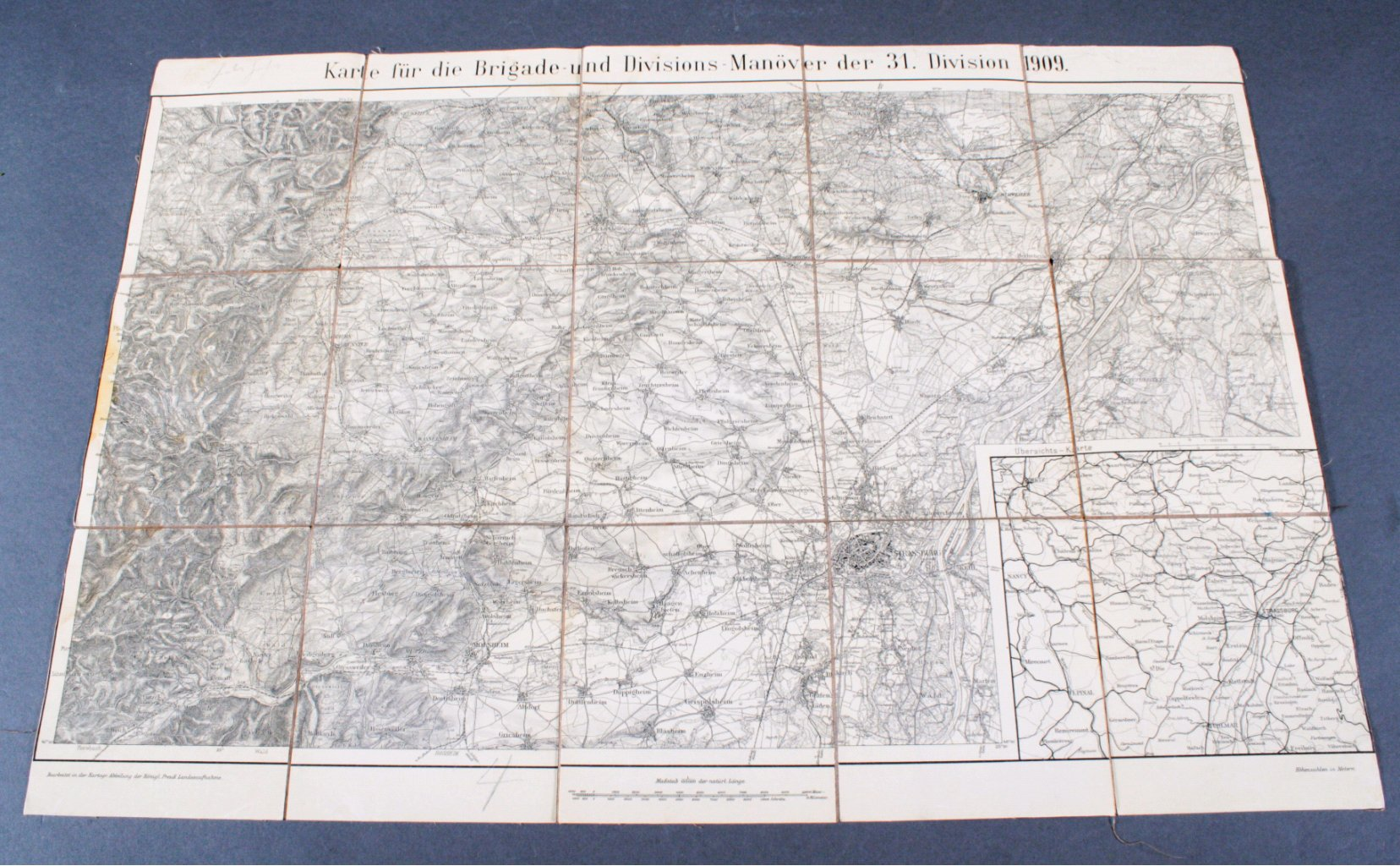 1909 Karte für MANÖVER der 31. DIVISION 1909