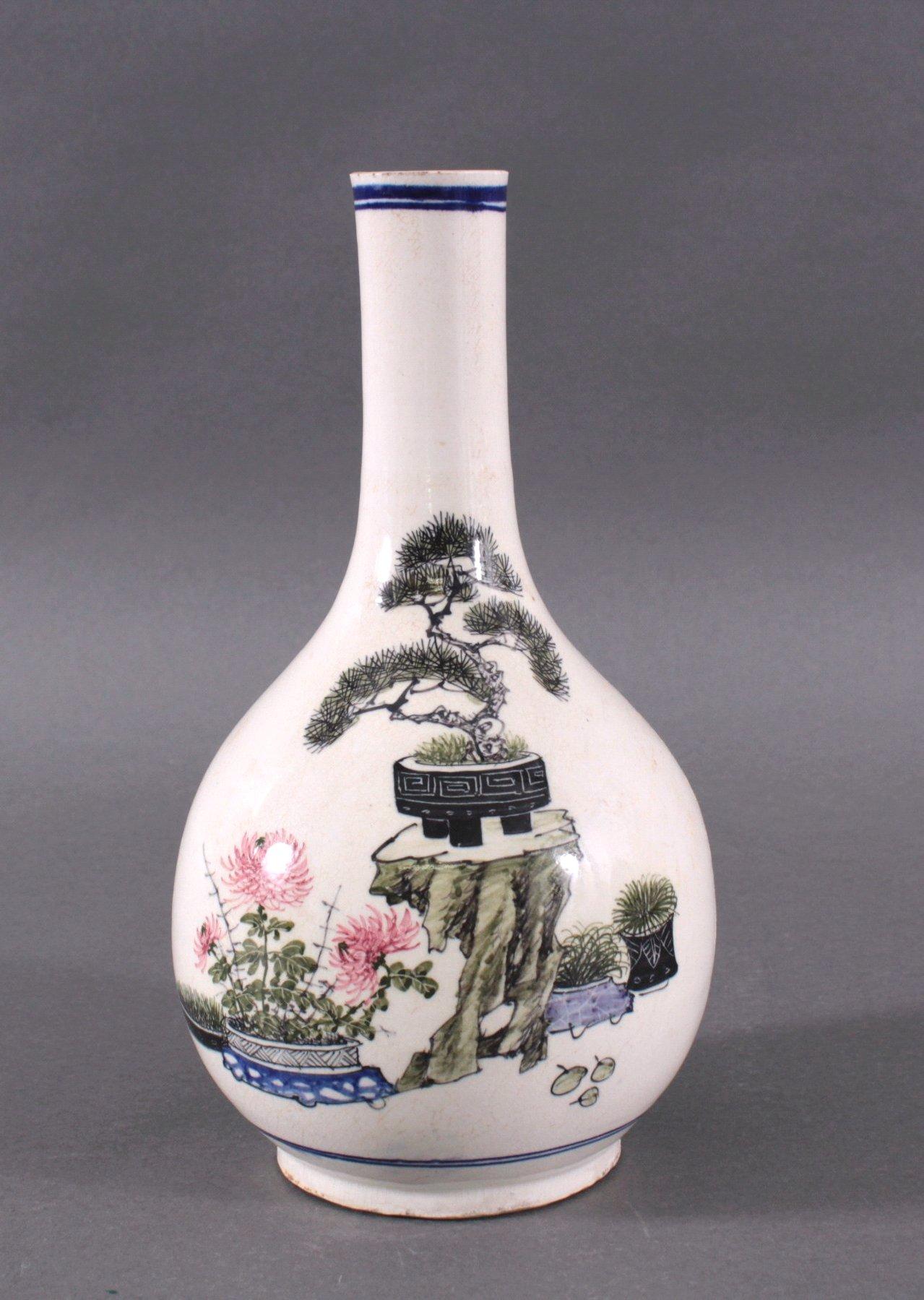 Chinesische Fayence-Vase um 1900