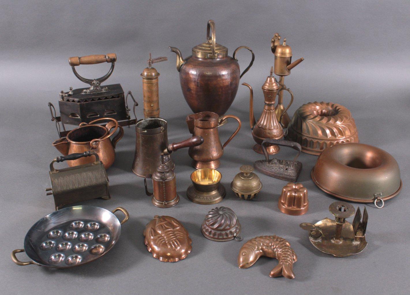 Konvolut Kupfer- und Dekorationsgegenstände