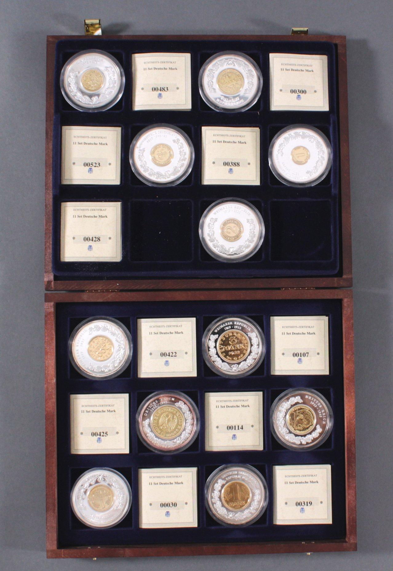 11 Medaillen Deutsche Mark