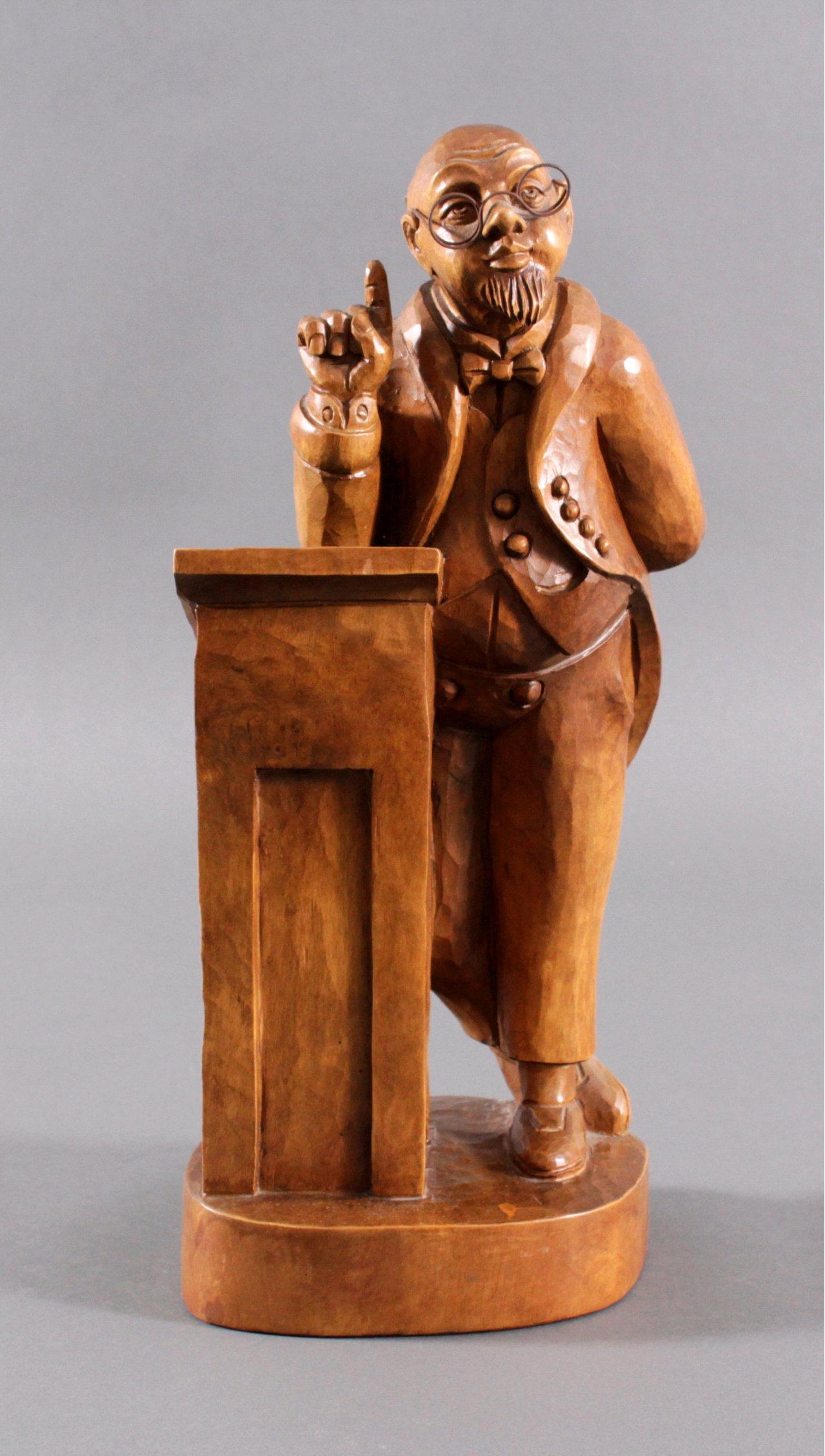 Holzskulptur, Lehrer