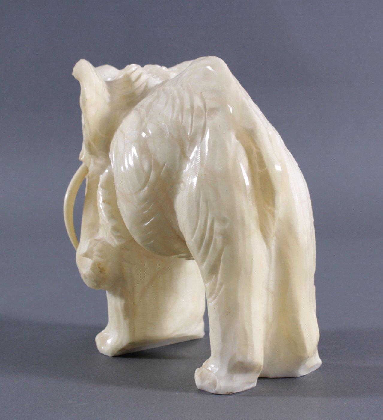 Marmorskulptur Elefant-2