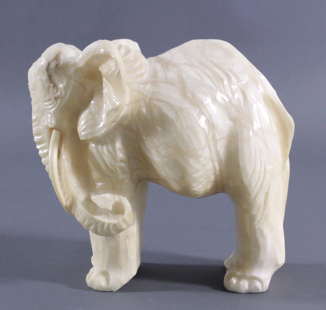 Marmorskulptur Elefant-3