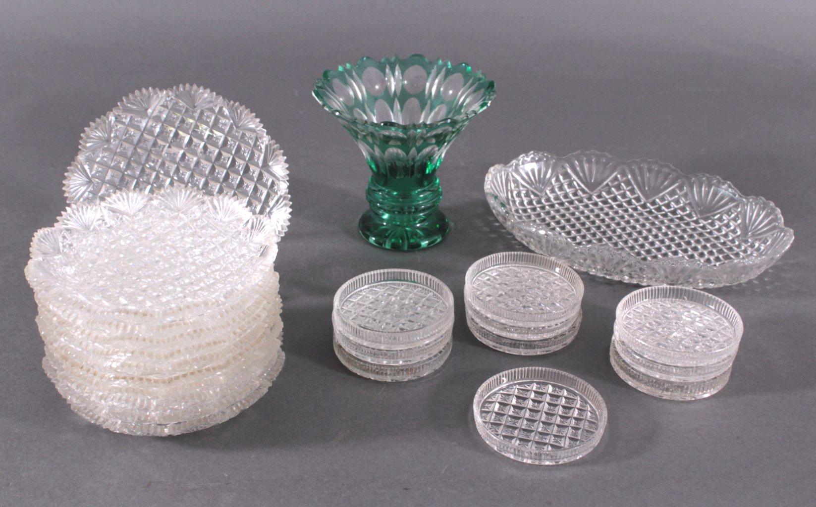 Konvolut Jugendstil Kristallglas