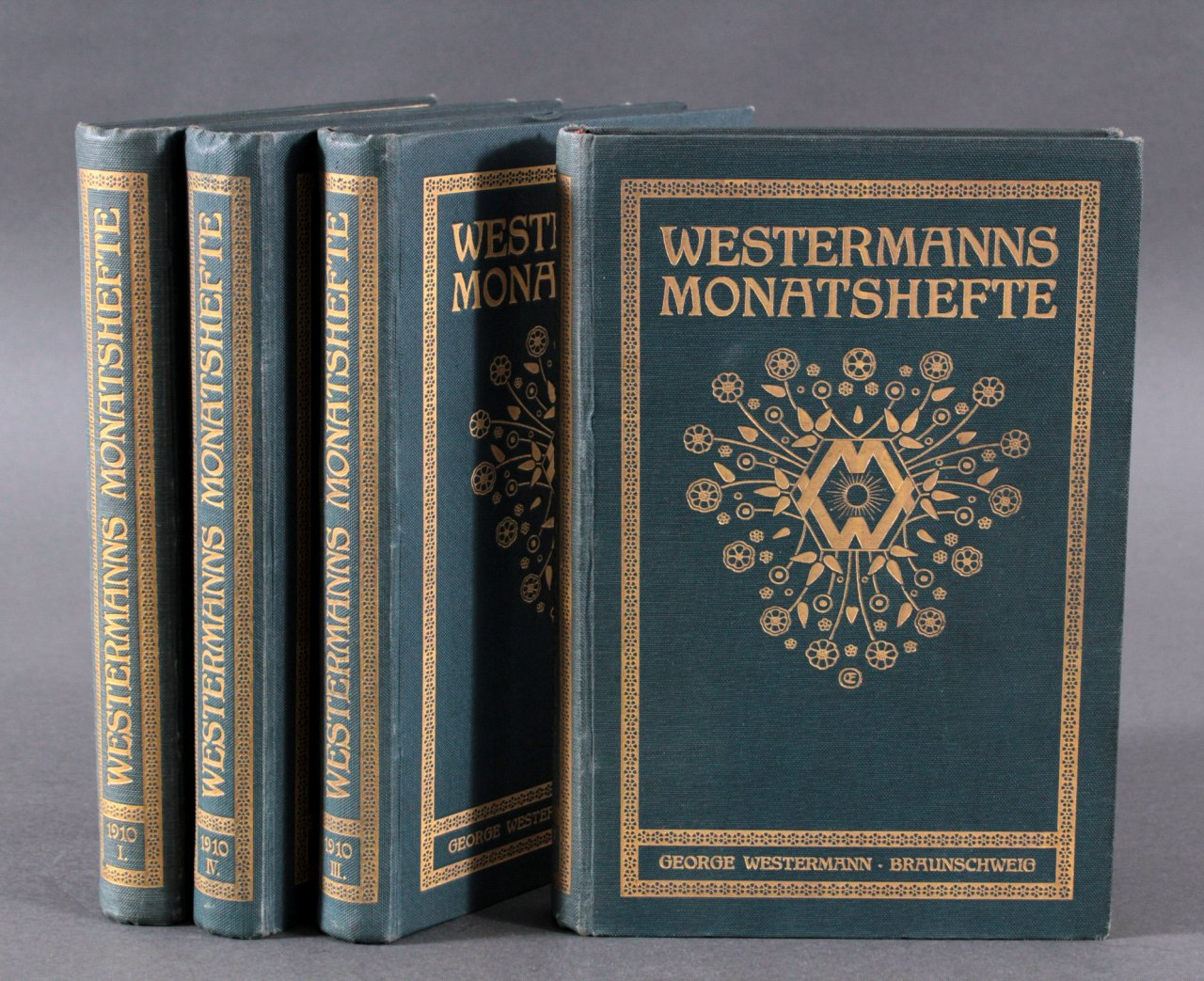 4 Bände Westermanns Monatshefte 1910