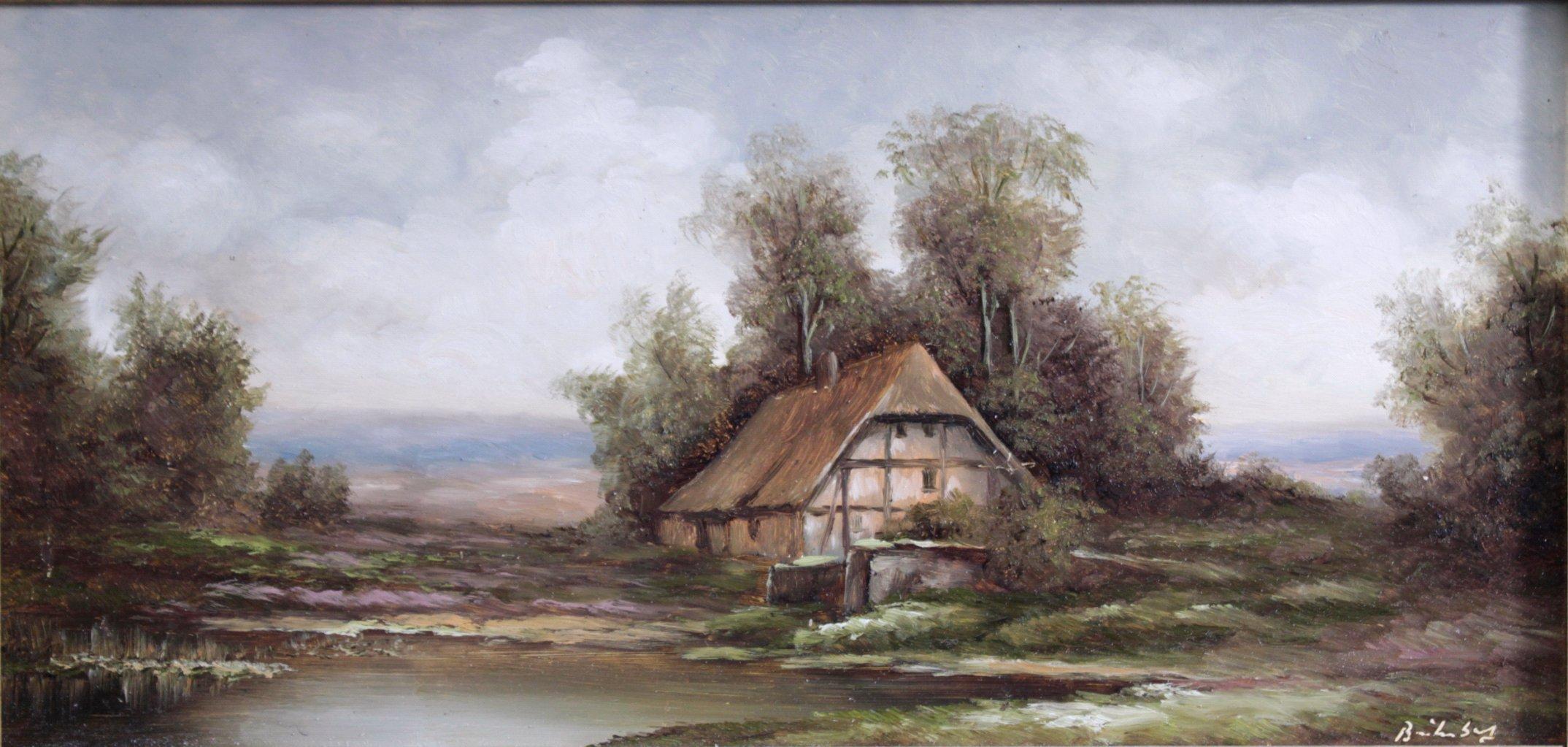 """Gemälde- """"Landschaft mit Gehöft"""""""