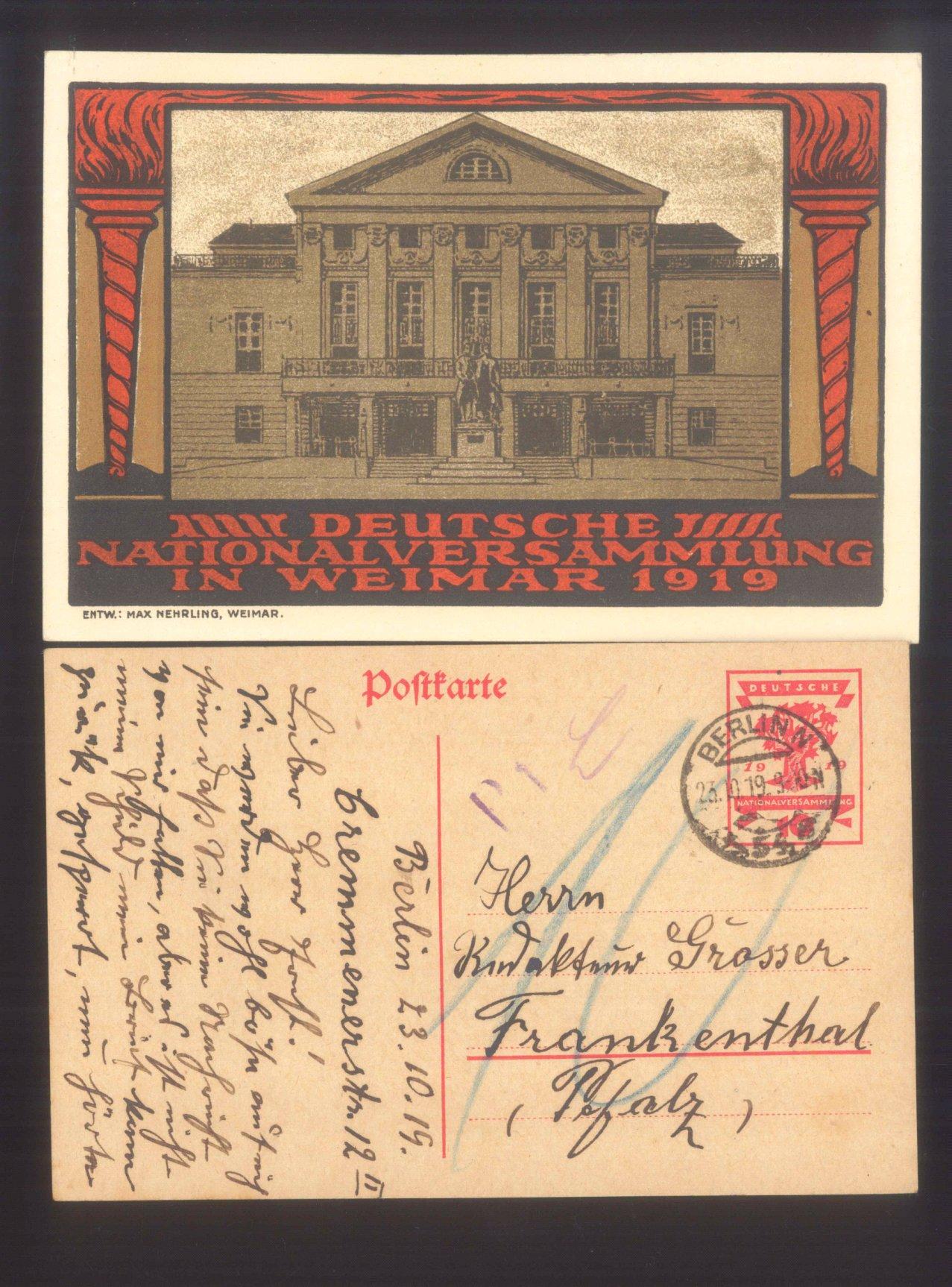 DEUTSCHES REICH 1919 National-Versammlung Weimar