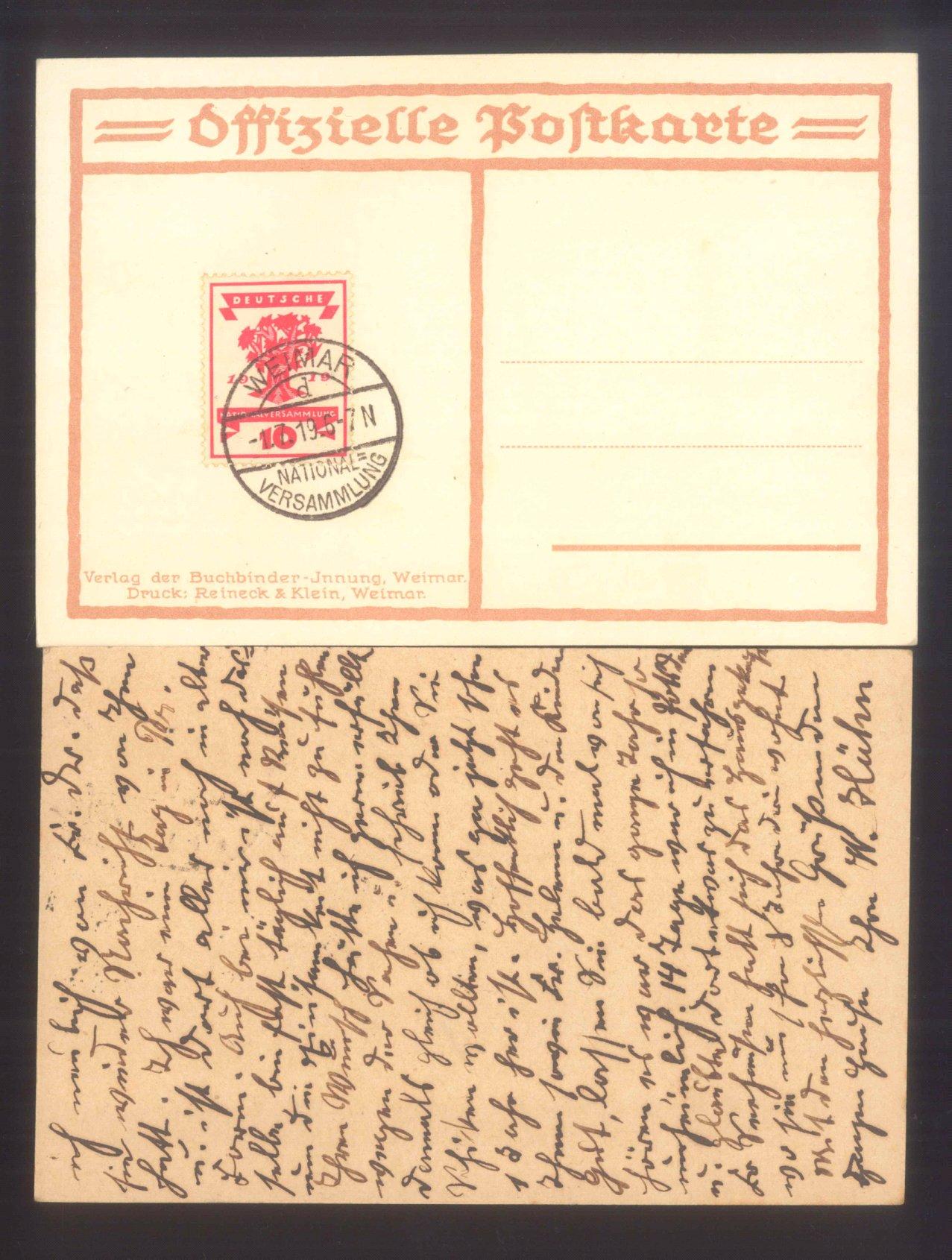 DEUTSCHES REICH 1919 National-Versammlung Weimar-1