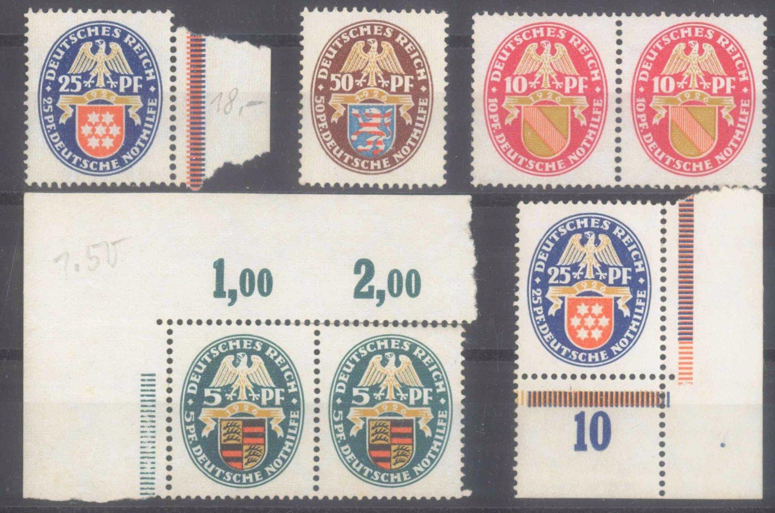 DEUTSCHES REICH 1926, NOTHILFE