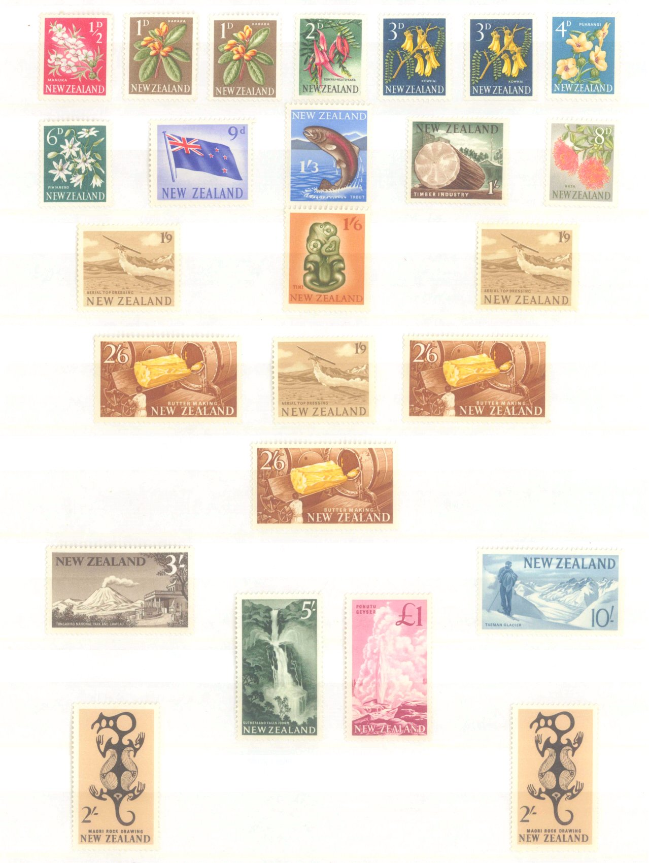 NEUSEELAND 1960 Freimarken mit Höchstwerten