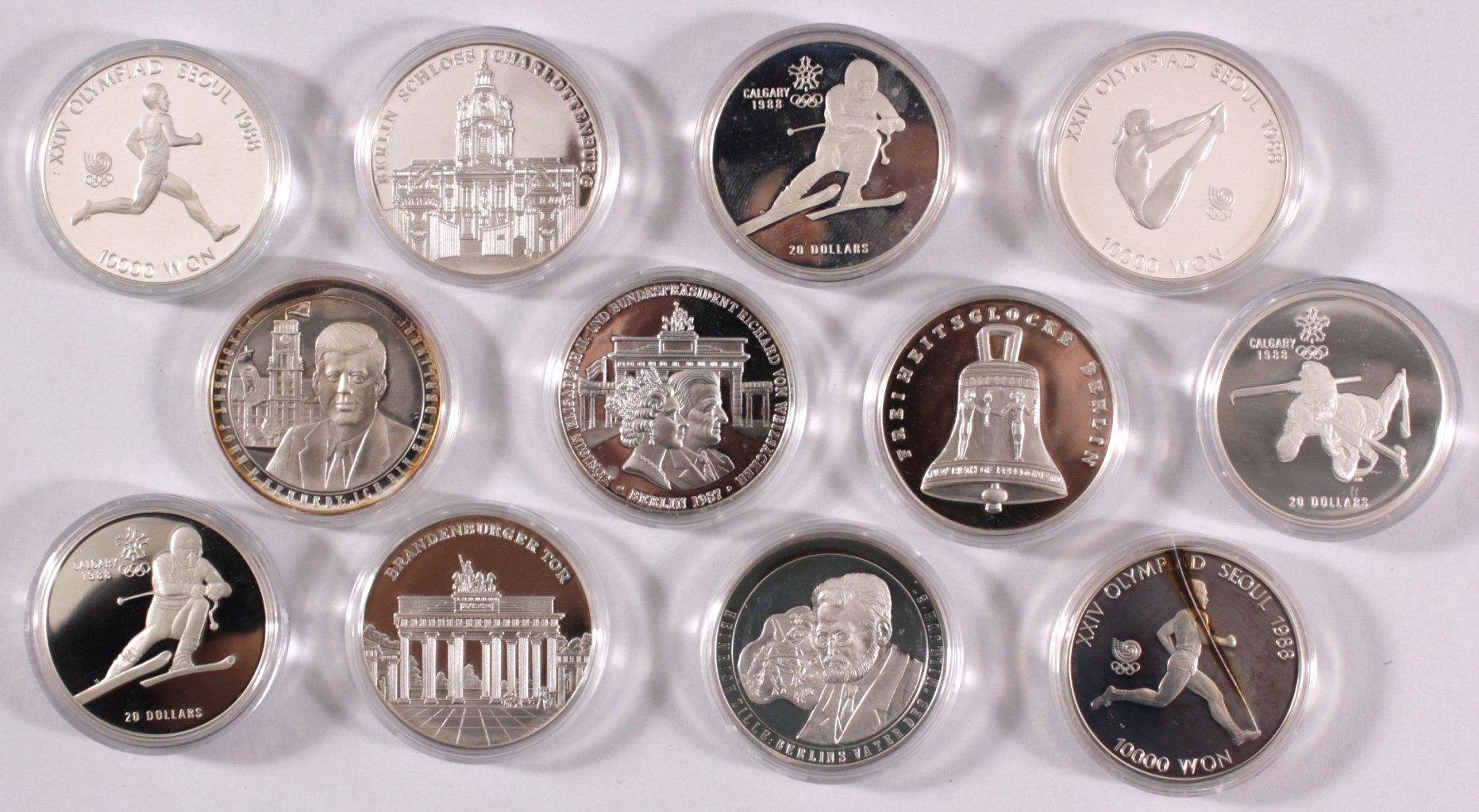 Kleine Sammlung Silbermünzen