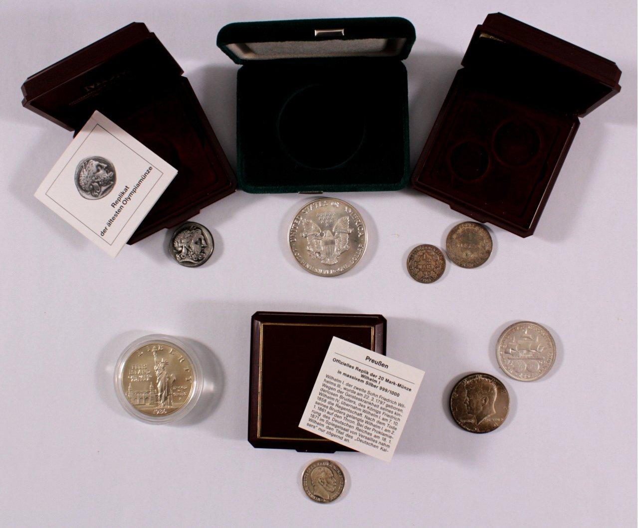 Kleine Sammlung Münzen, auch Silber