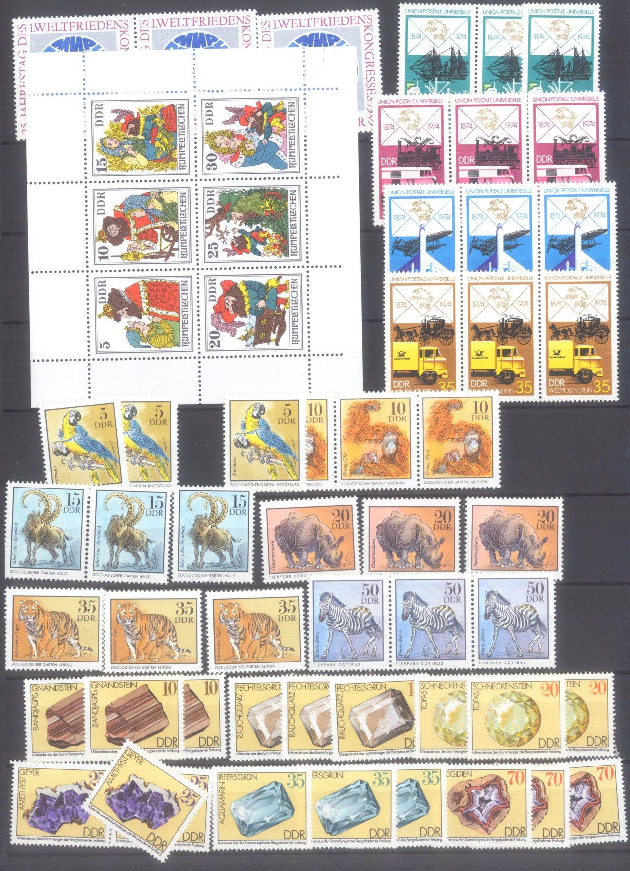 DDR postfrischer Bestand und BUND NOMINALE mit 22 EURO-8