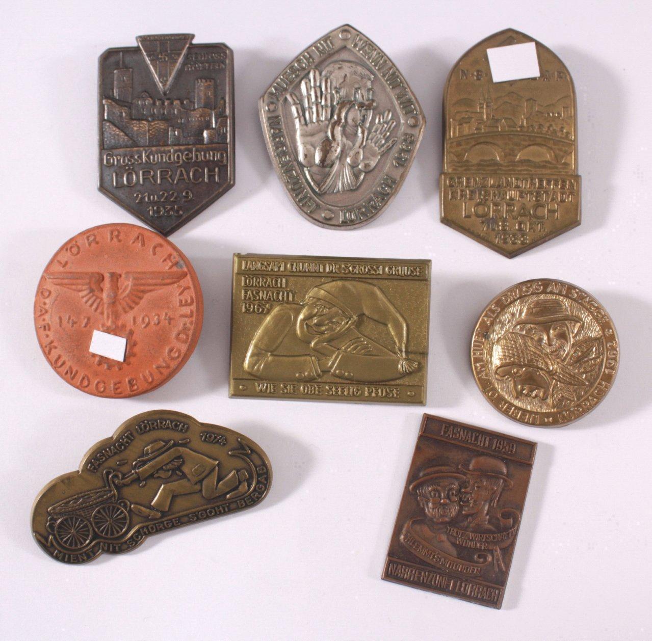 Abzeichen und Medaillen Lörrach