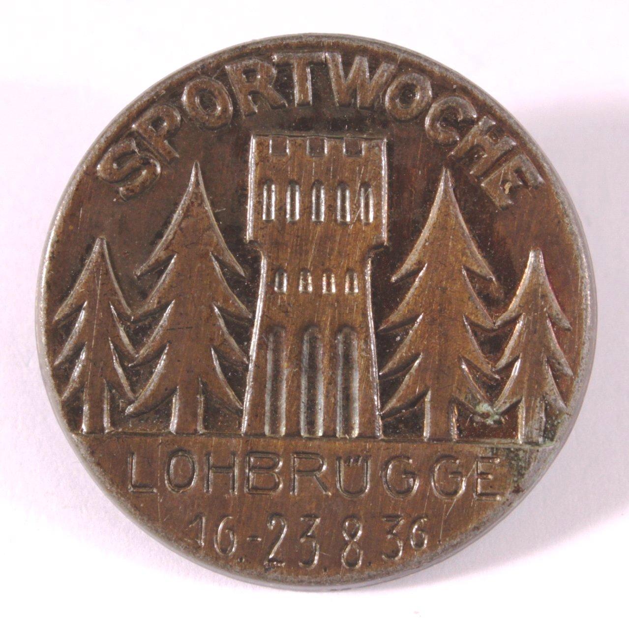 Anstecker Sportwoche Lohbrügge 16.-23.8.1936