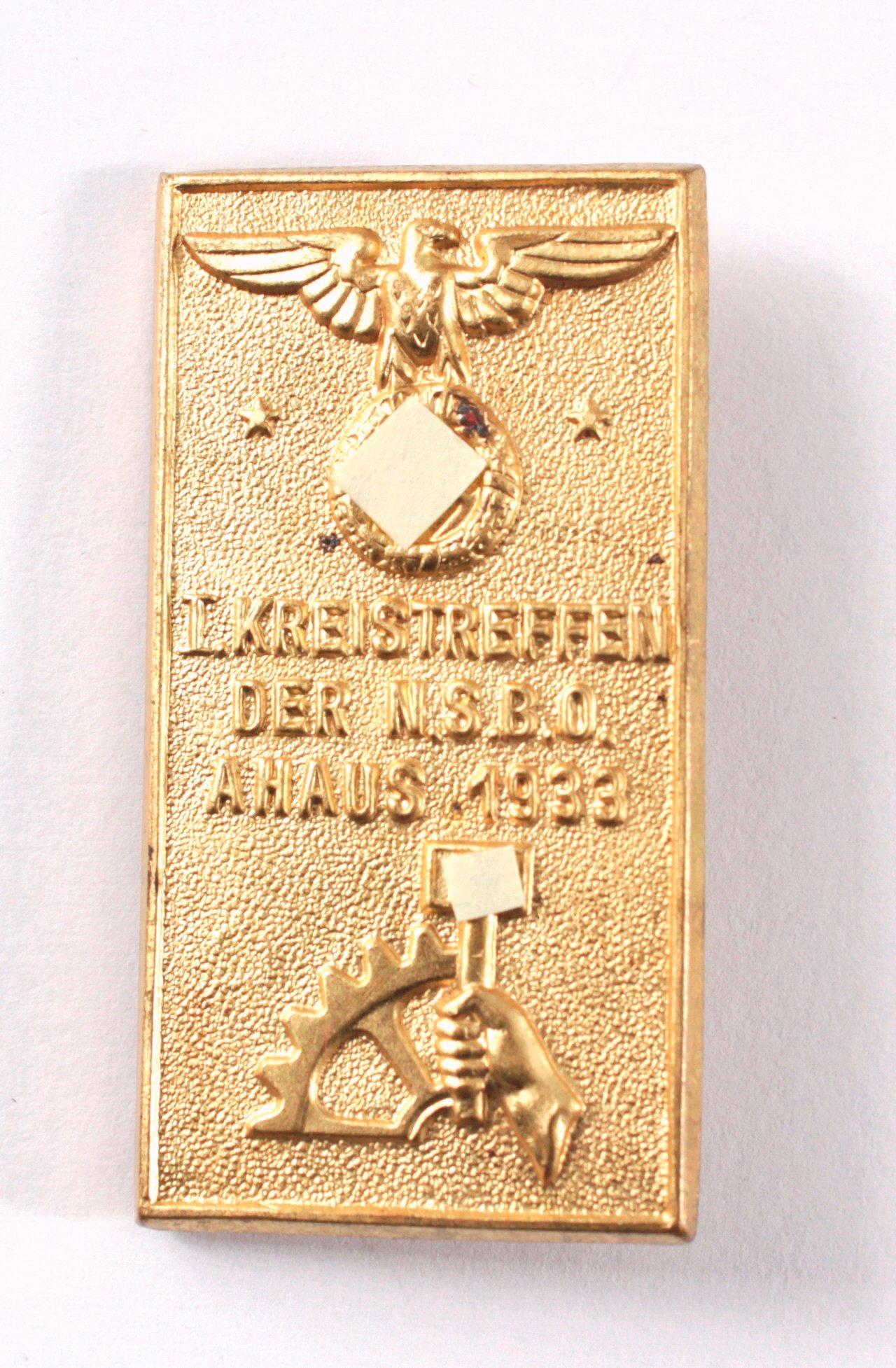 Abzeichen, 1. Kreistreffen NSBO Ahaus 1933