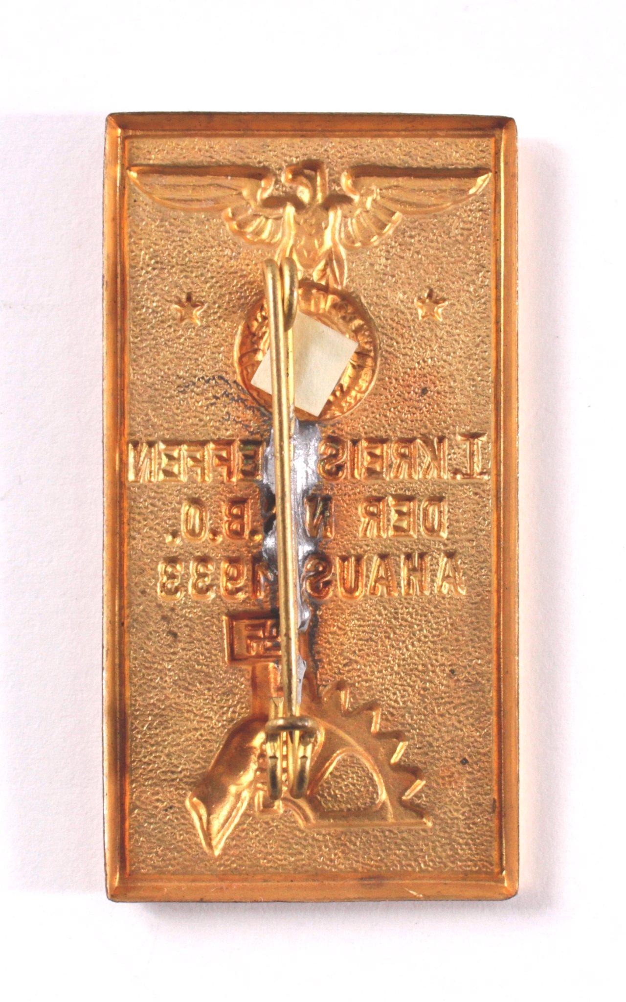 Abzeichen, 1. Kreistreffen NSBO Ahaus 1933-1