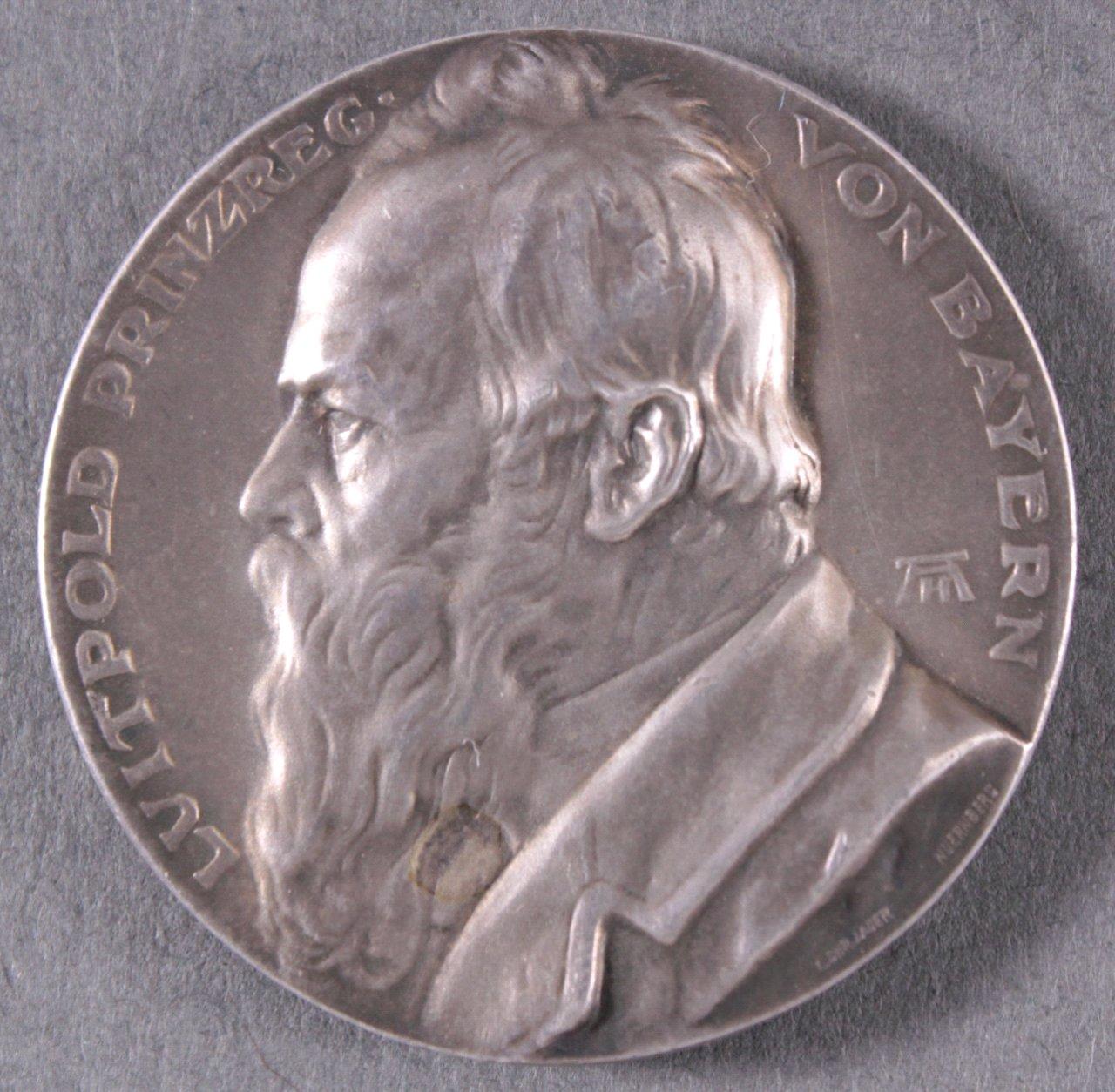 Silbermedaille, Prinzregent Luitpold von Bayern, 1912