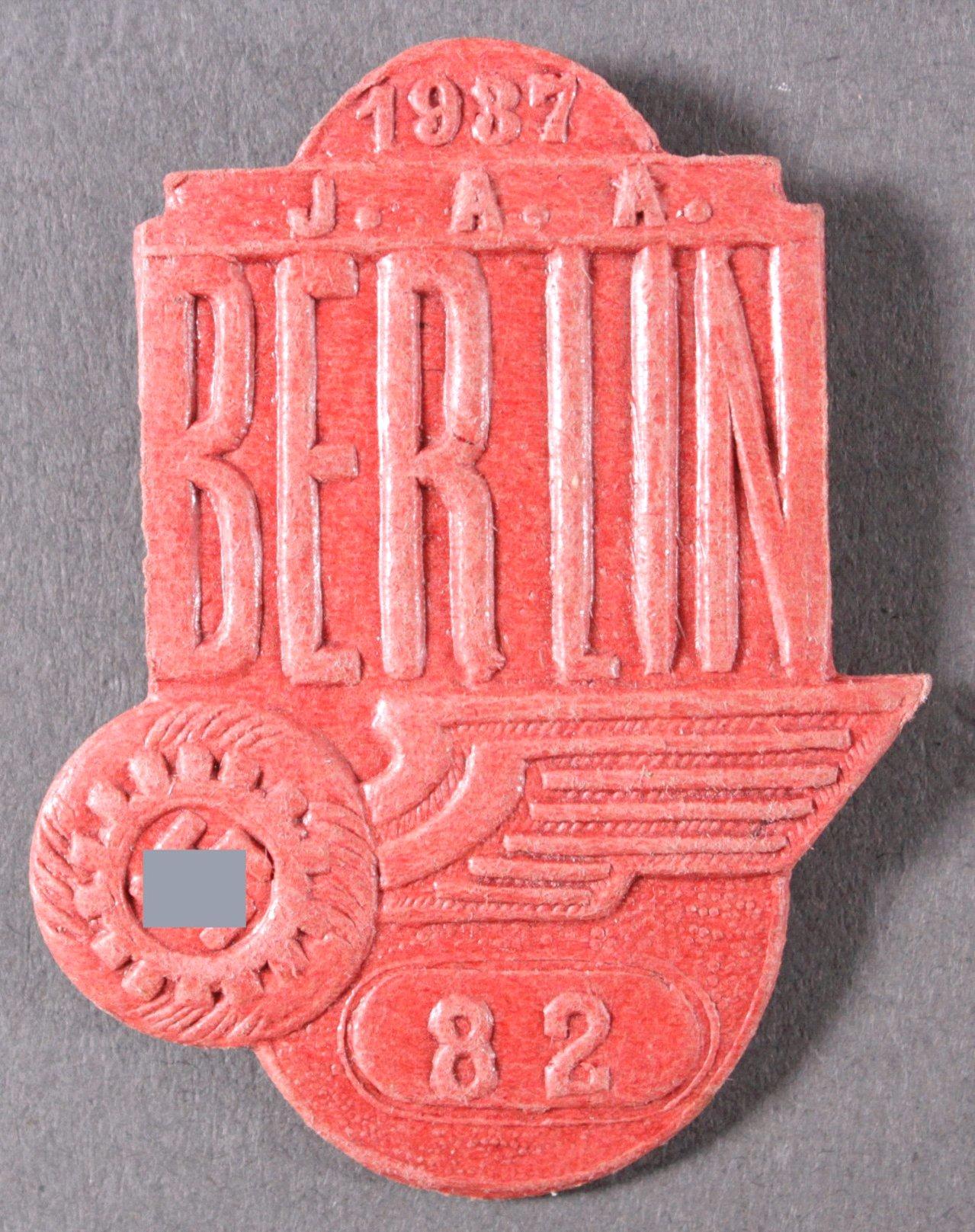 Veranstaltungsabzeichen IAA Berlin 1937