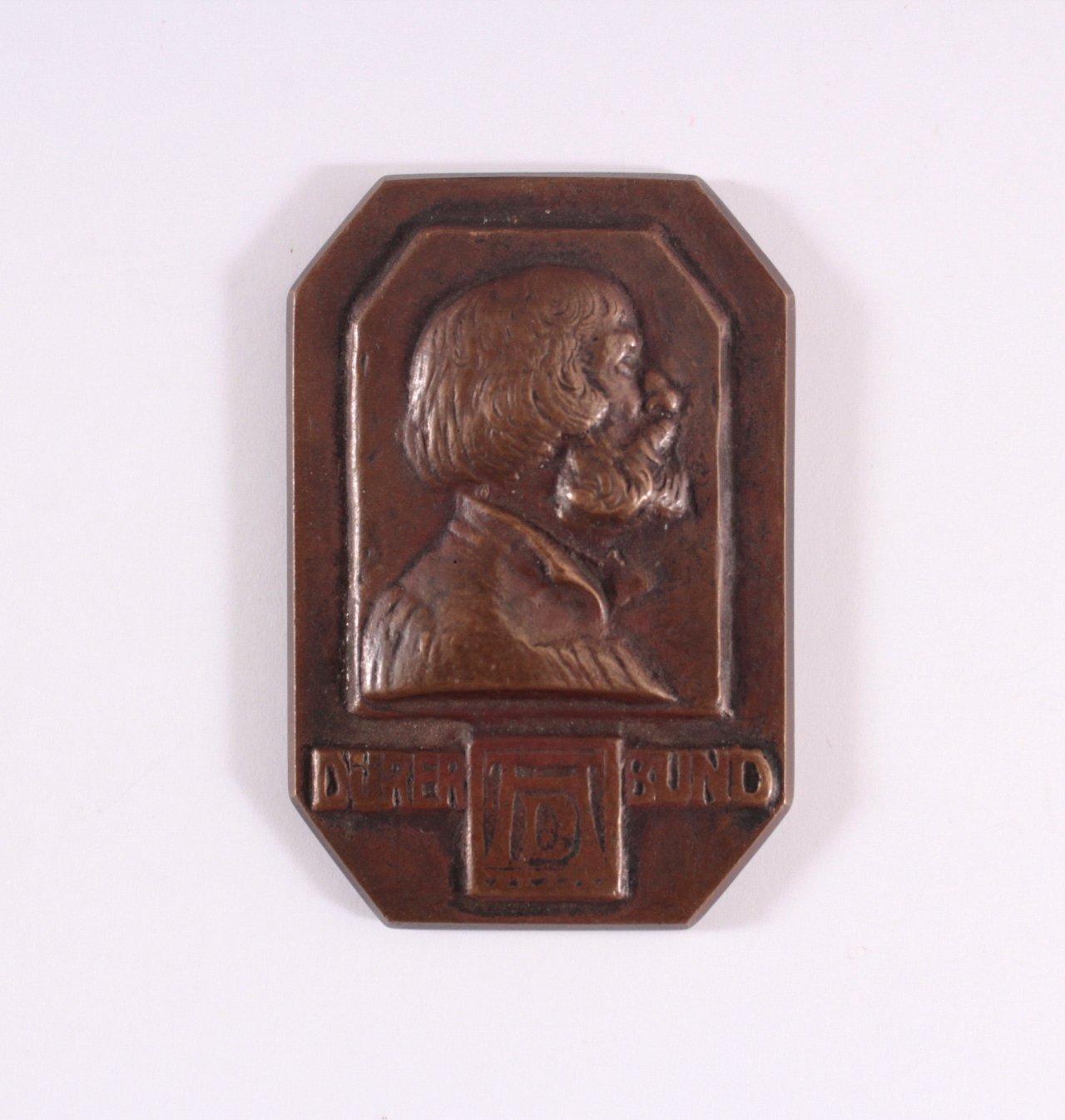 Plakette 10 Jahre Dürer Bund, 1902-1912