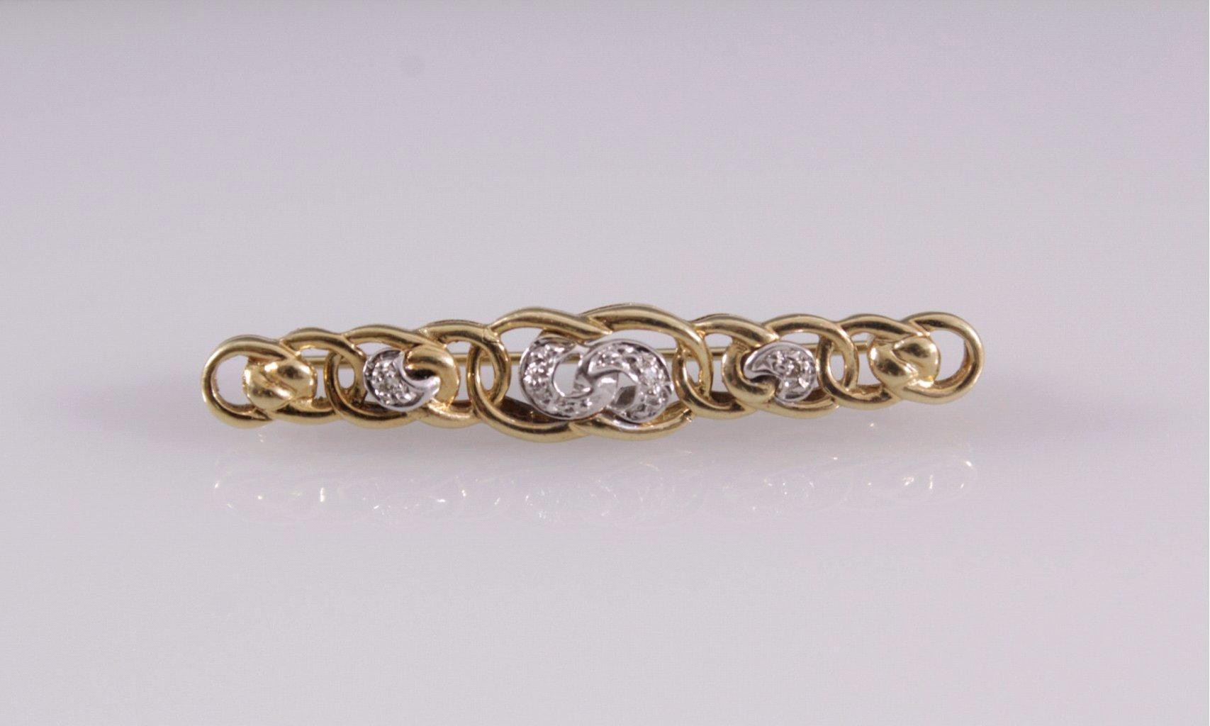 Stab-Brosche mit Diamanten