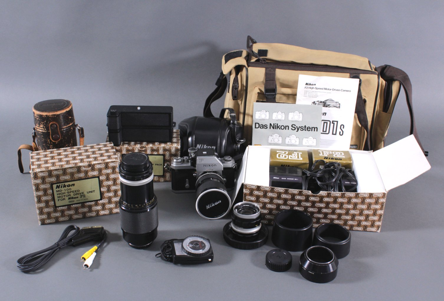 Niokon F2 Kamera mit Zubehör