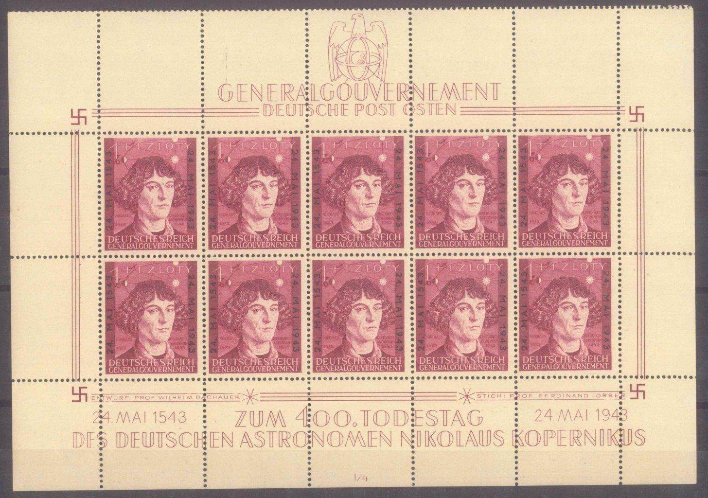 GENERALGOUVERNEMENT 1943, Kopernikus – Kleinbogen