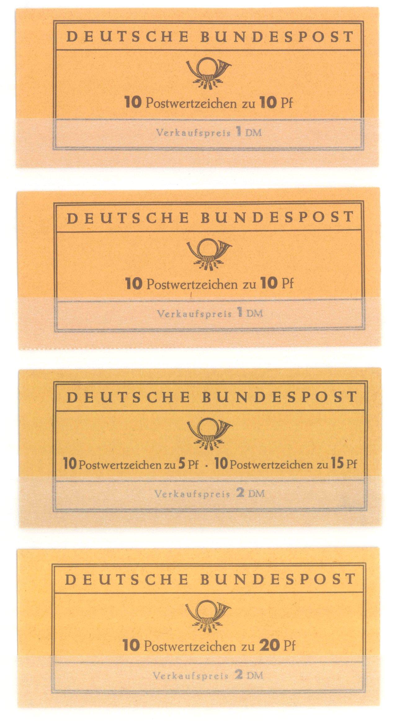 BUND – MARKENHEFTCHEN 1961 – 1965, Katalogwert 270,- Euro