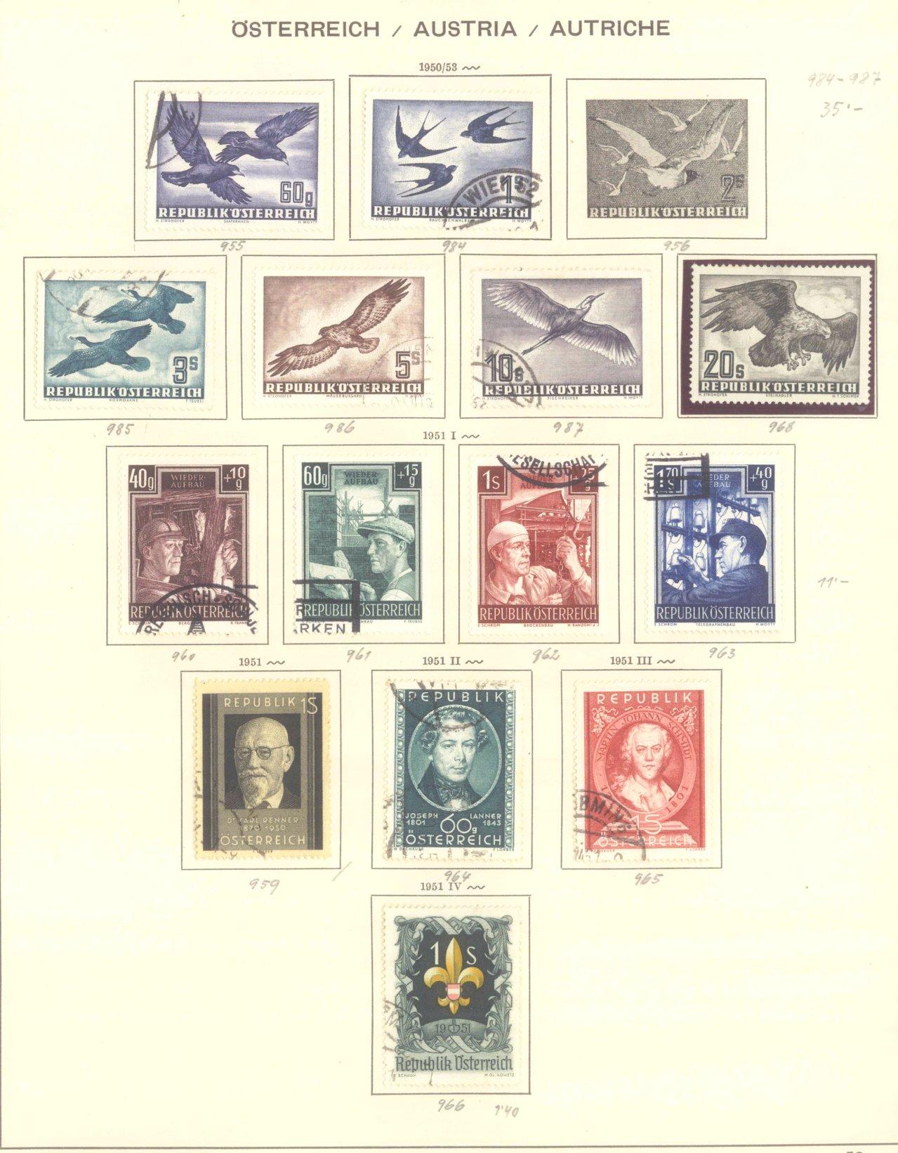 ÖSTERREICH 1850-1962
