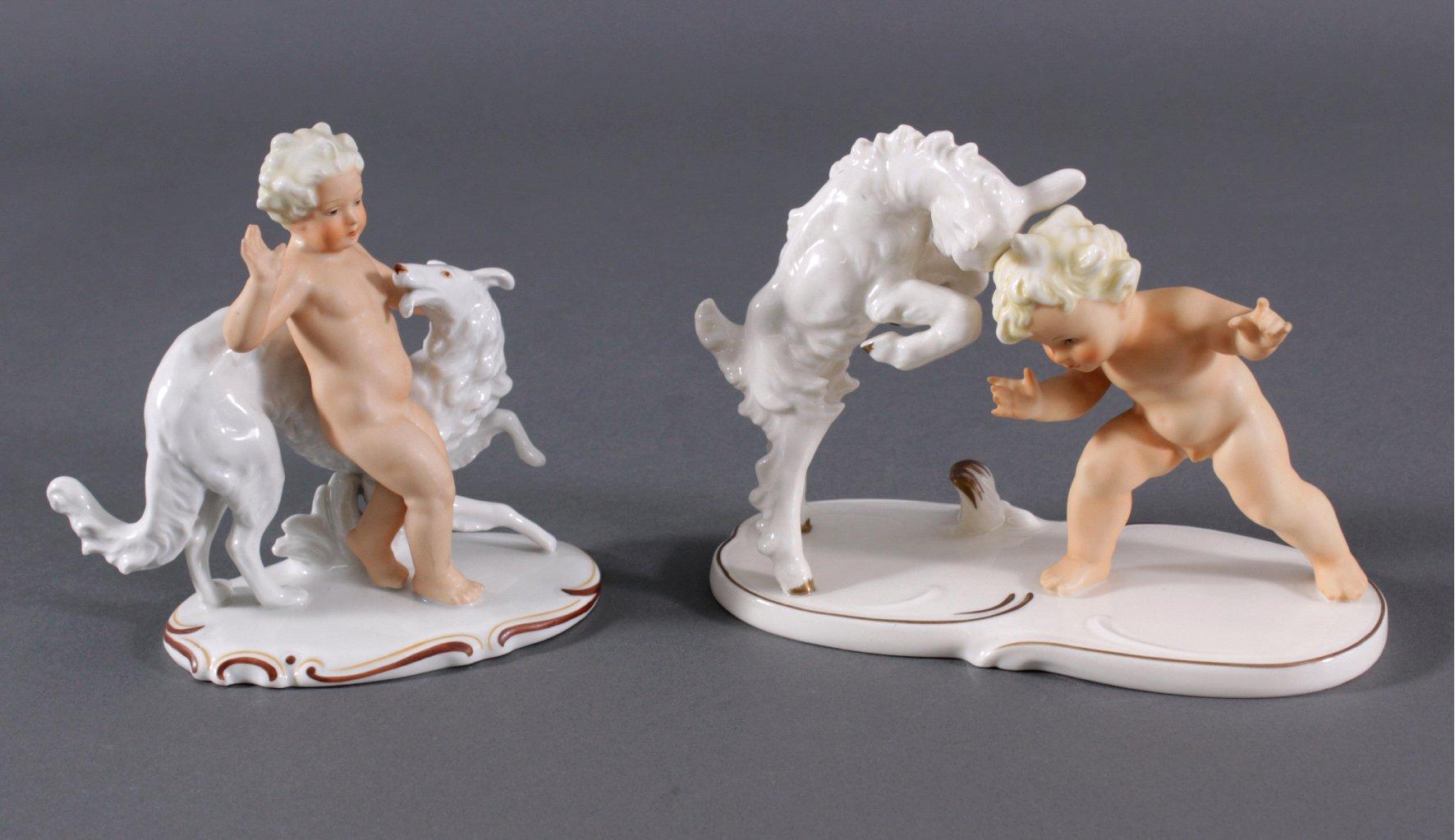 2 Porzellanskulpturen, Schaubach Kunst