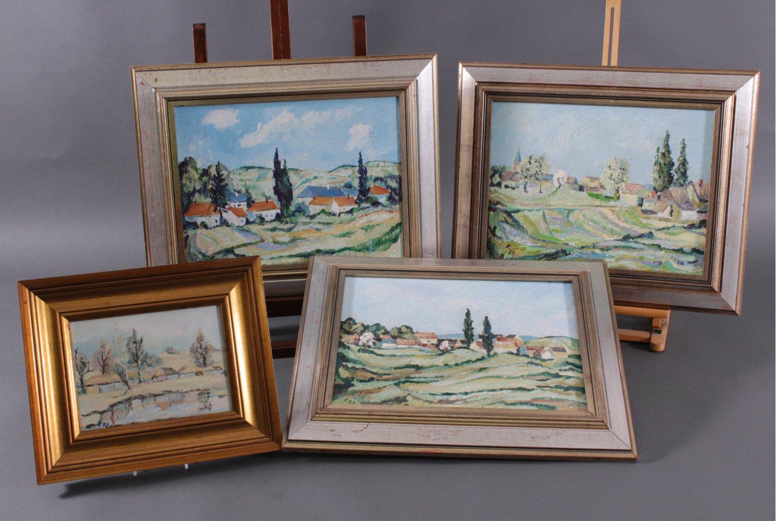 Kurt König 1915-1999, 4 Gemälde