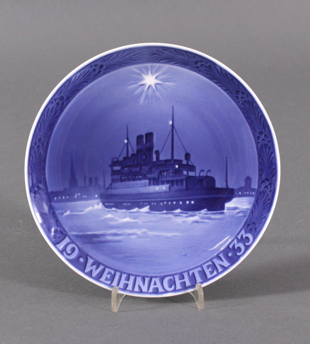 Weihnachtsteller Royal Copenhagen von 1933