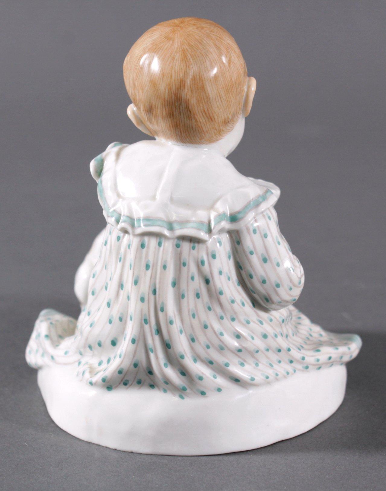 Meissen Figur, Kind mit Hund. Entwurf Paul Rumrich-3
