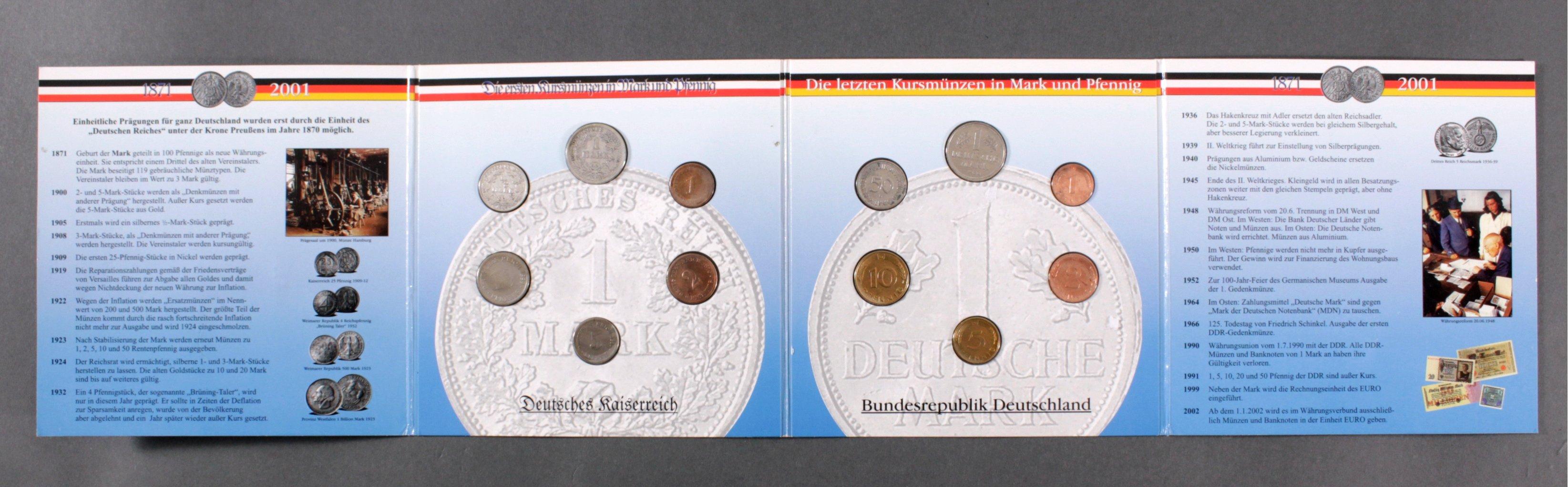 Die ersten Kursmünzen in Mark und Pfennig