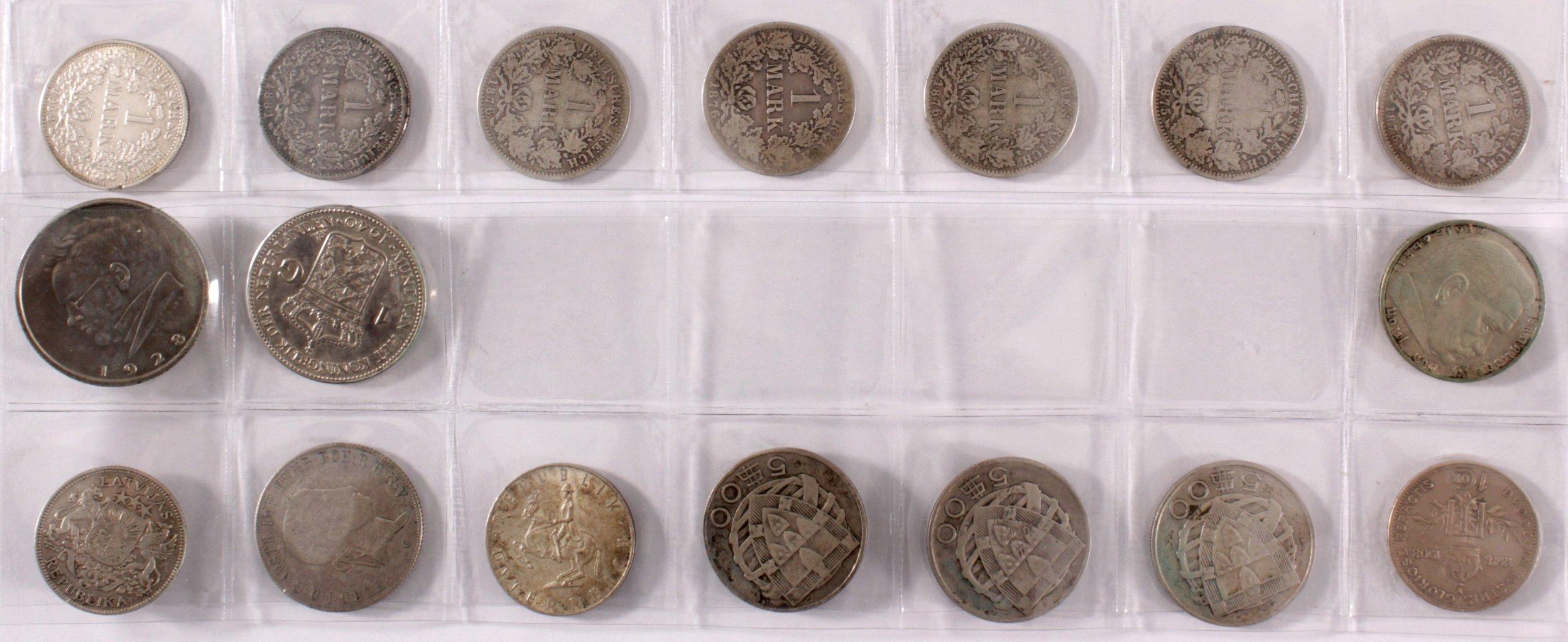Sammlung Silbermünzen ab 1875