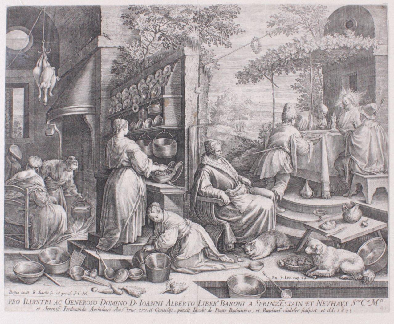 """Raphael Sadeler (1560-1628/1632), """"Christus in Emmaus"""""""