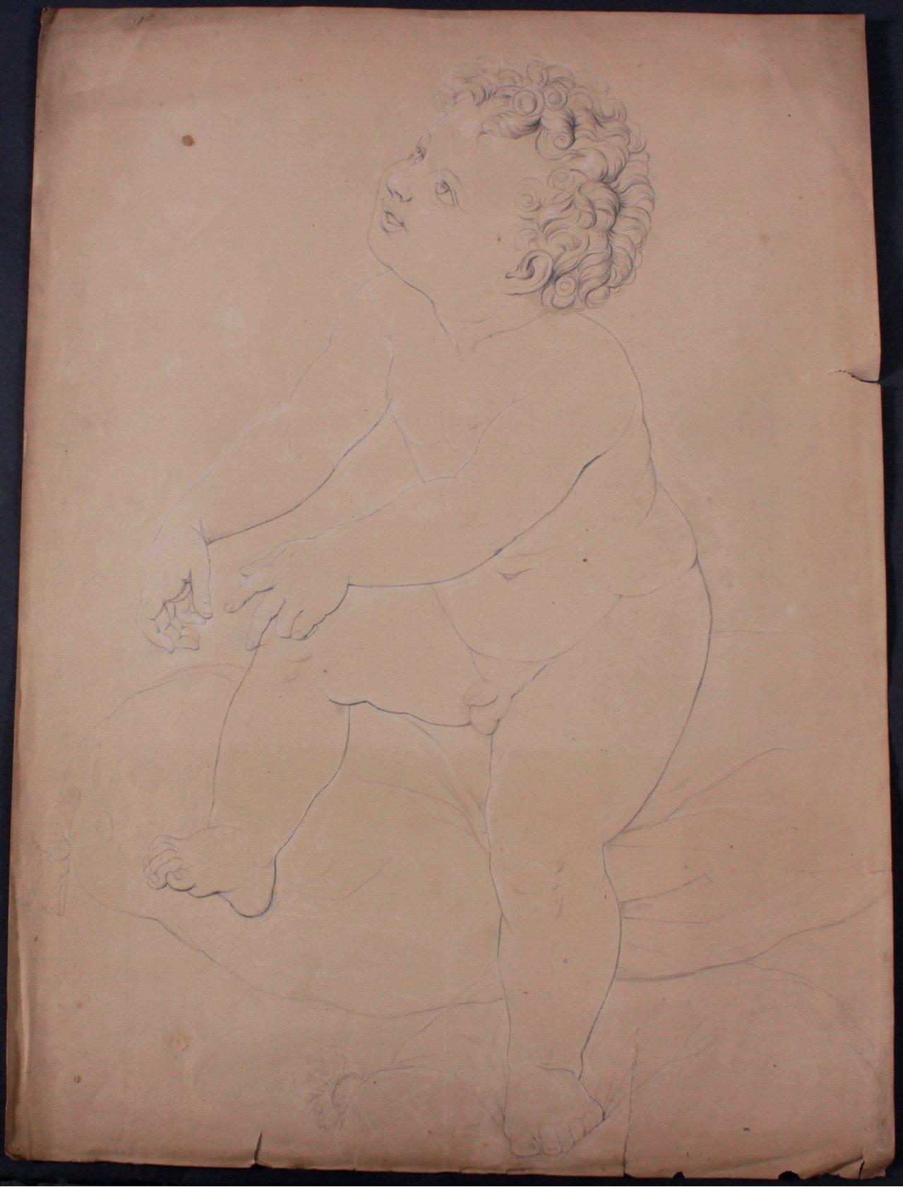 Bleistiftzeichnug von Hoheit Herzogin Marja