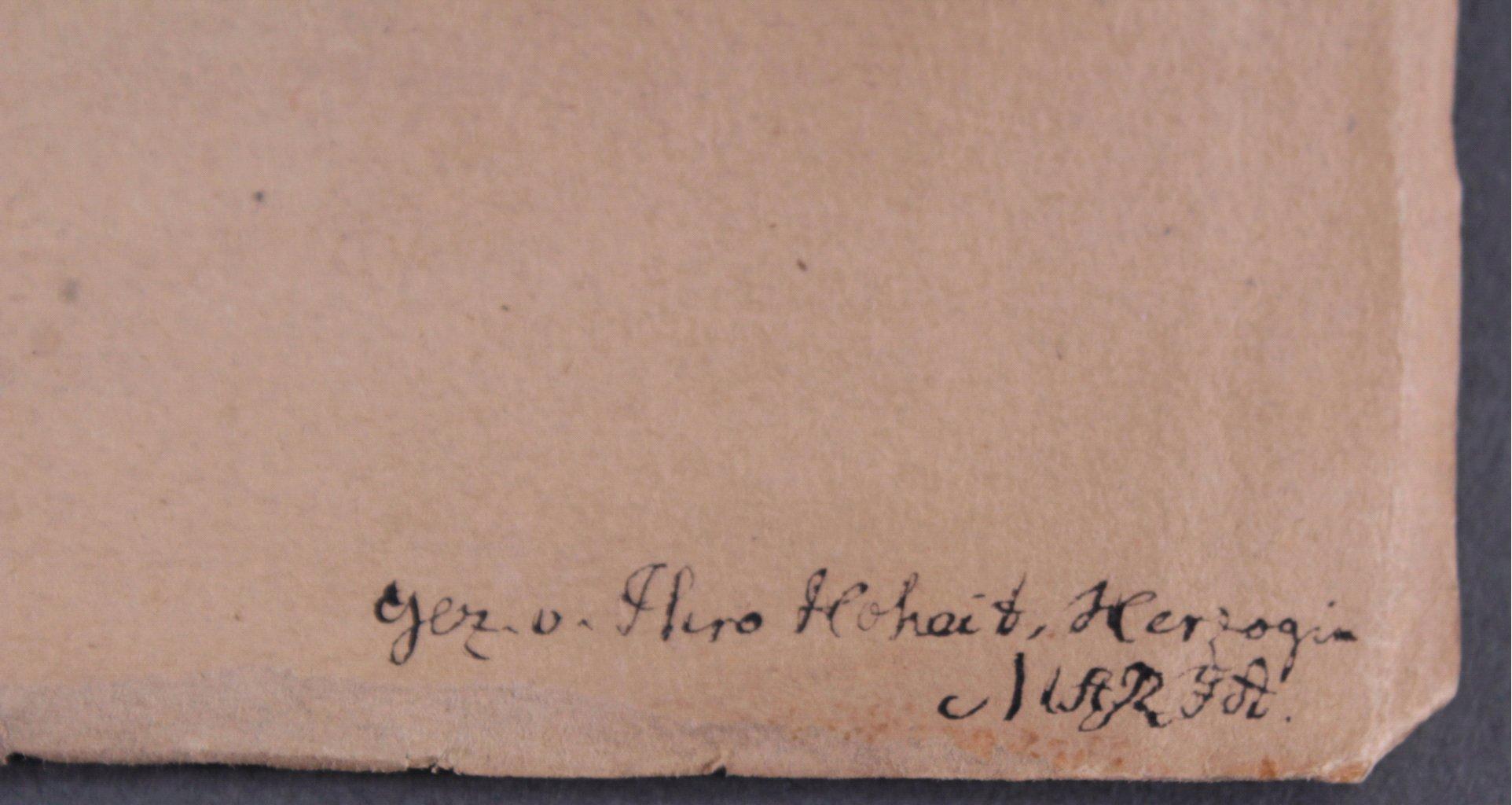 Bleistiftzeichnug von Hoheit Herzogin Marja-1