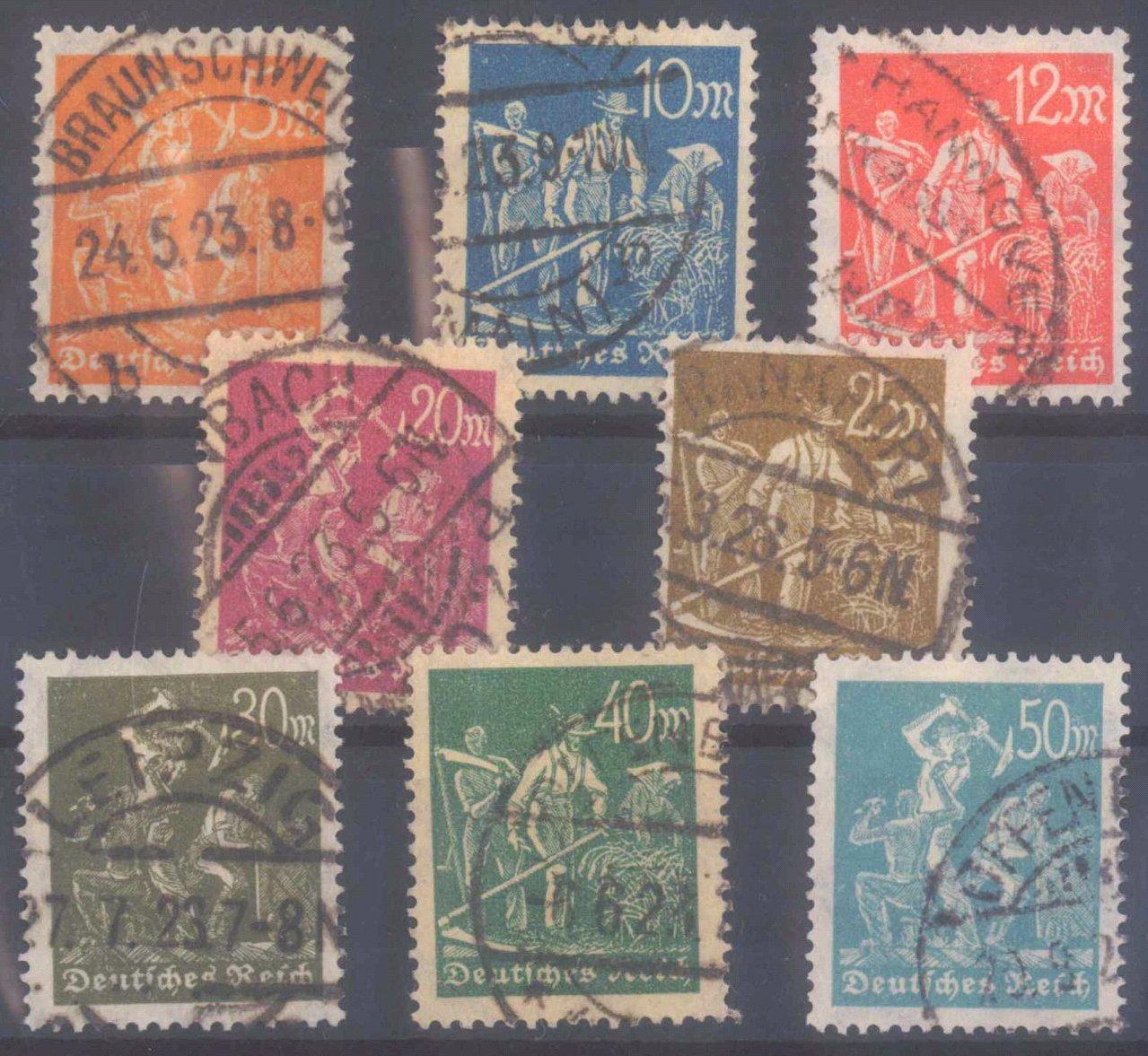 Deutsches Reich, Michel 238-245 gestempelt
